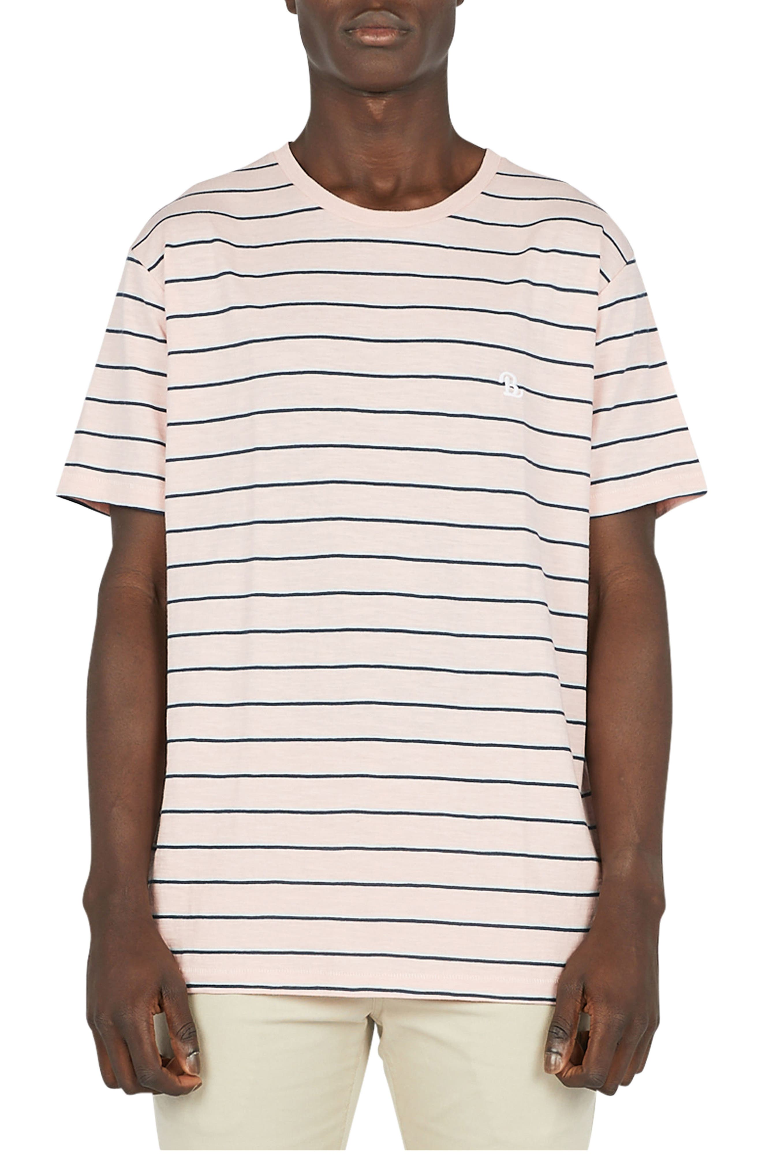 B.Schooled T-Shirt,                             Main thumbnail 1, color,                             Pink Stripe