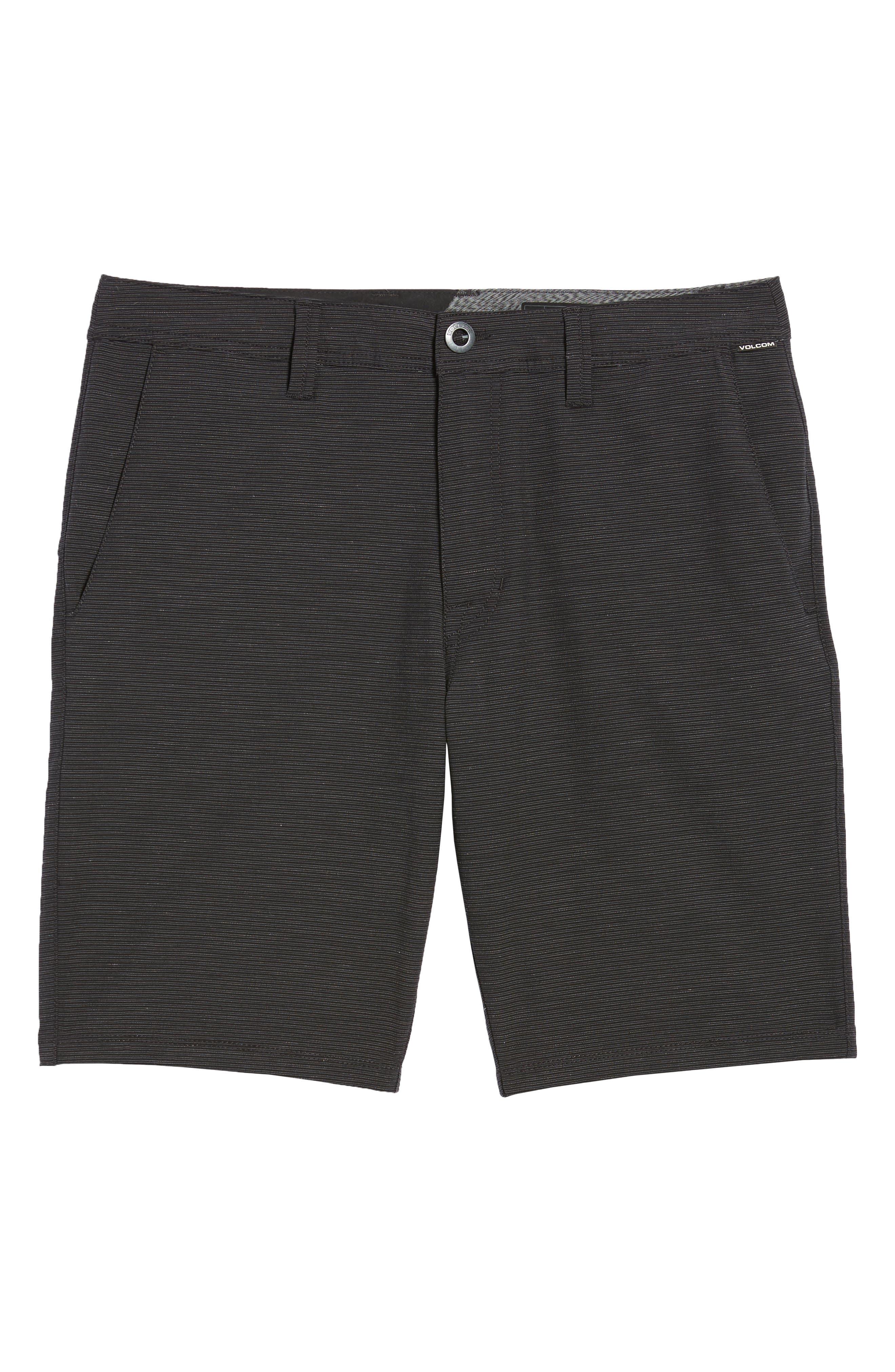Surf N' Turf Slub Hybrid Shorts,                             Alternate thumbnail 6, color,                             Black