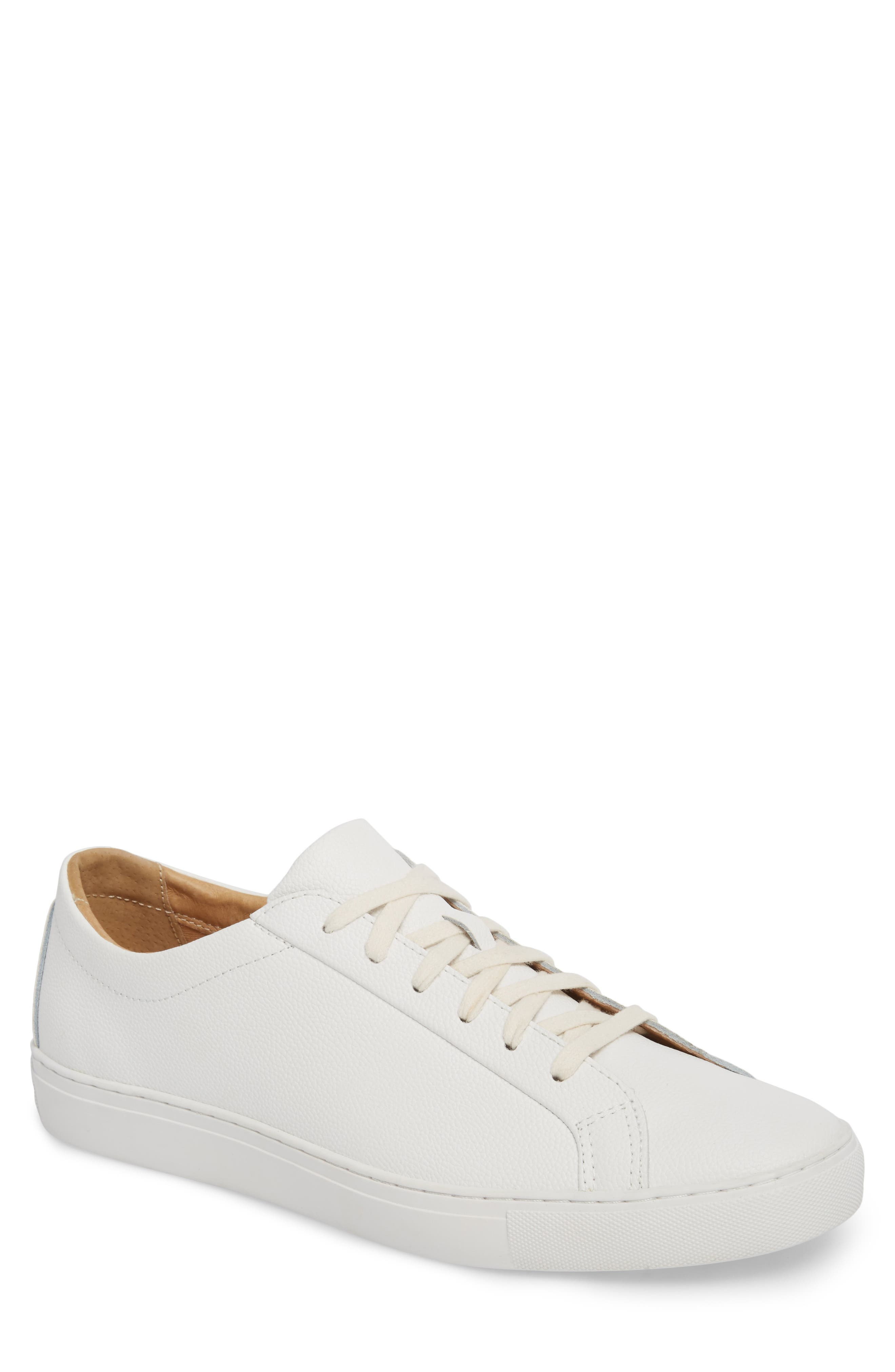 Kennedy Low Top Sneaker,                         Main,                         color, White Leather