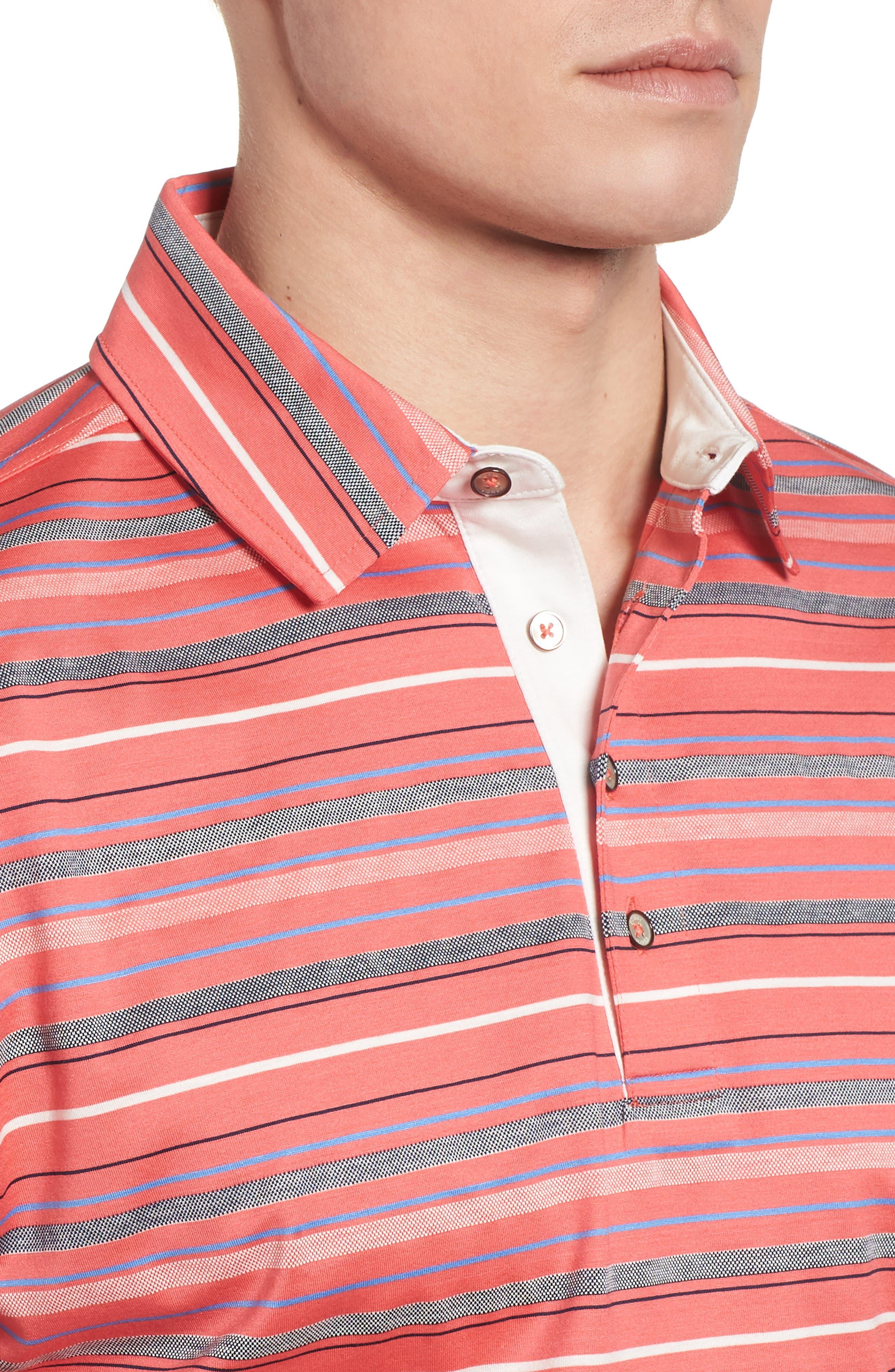 Alternate Image 4  - Bobby Jones Isle Stripe Jacquard Polo