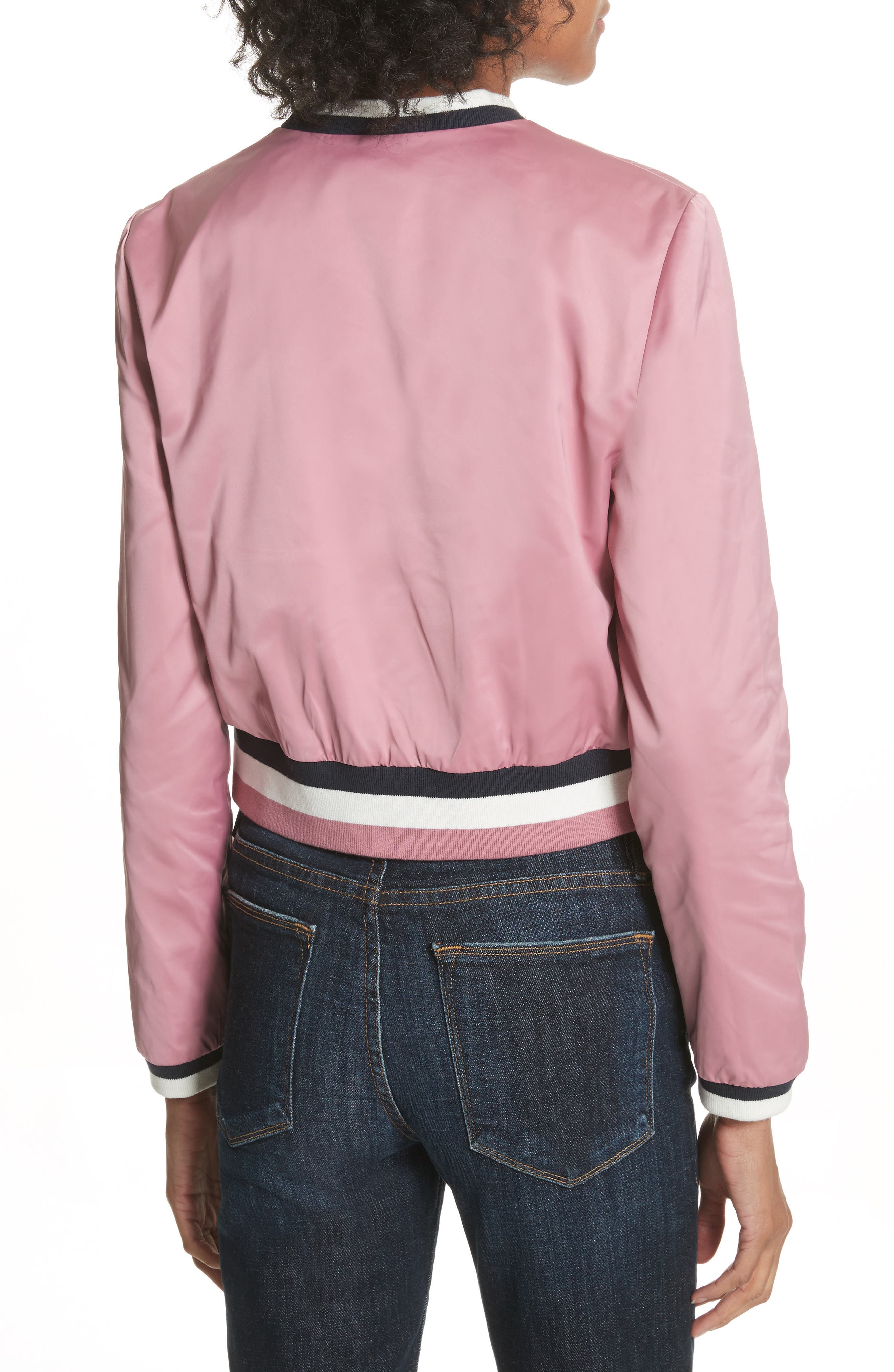 Colour by Numbers Bomber Jacket,                             Alternate thumbnail 2, color,                             Dusky Pink