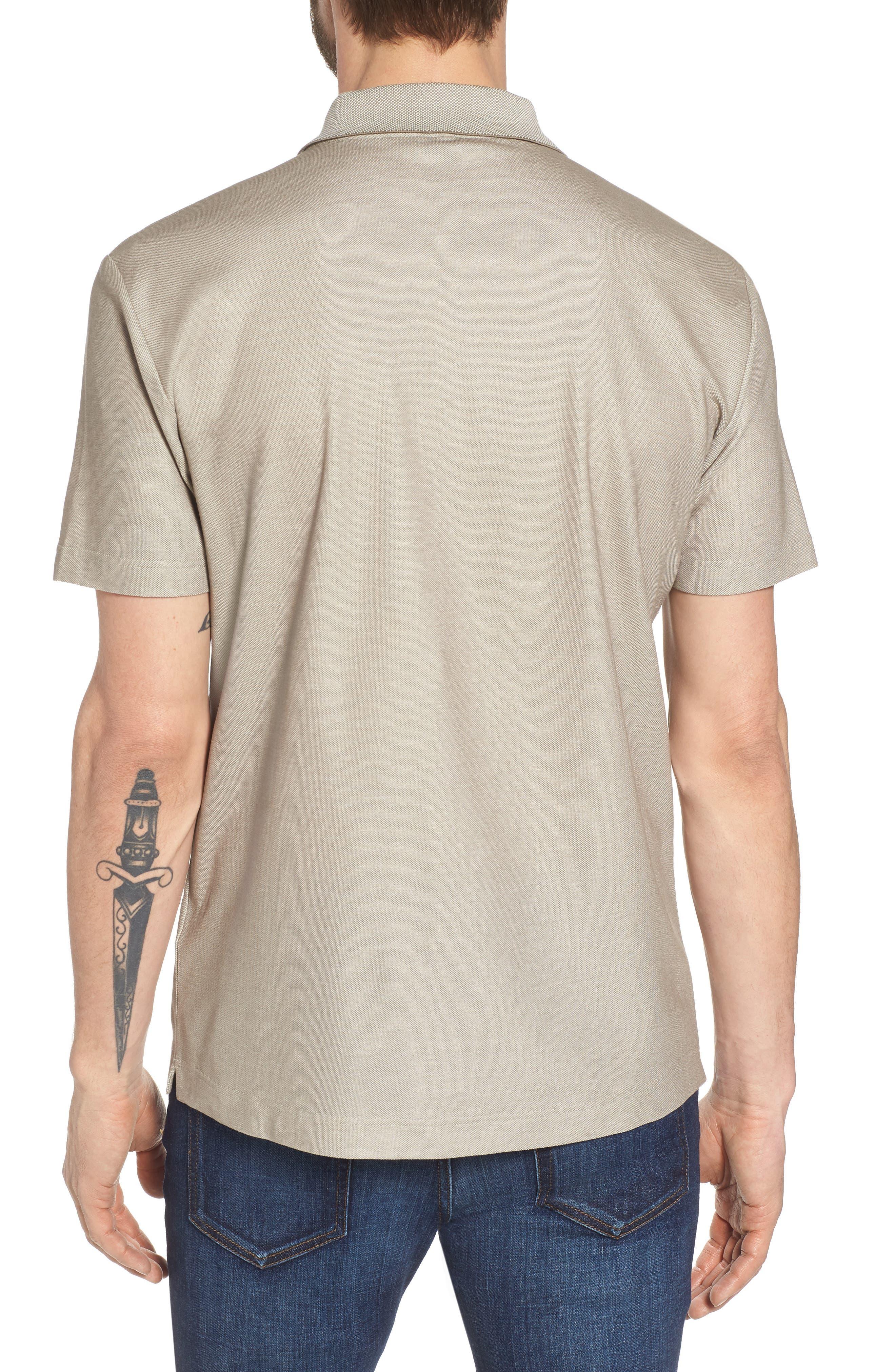 Cotton Polo Shirt,                             Alternate thumbnail 2, color,                             Tan