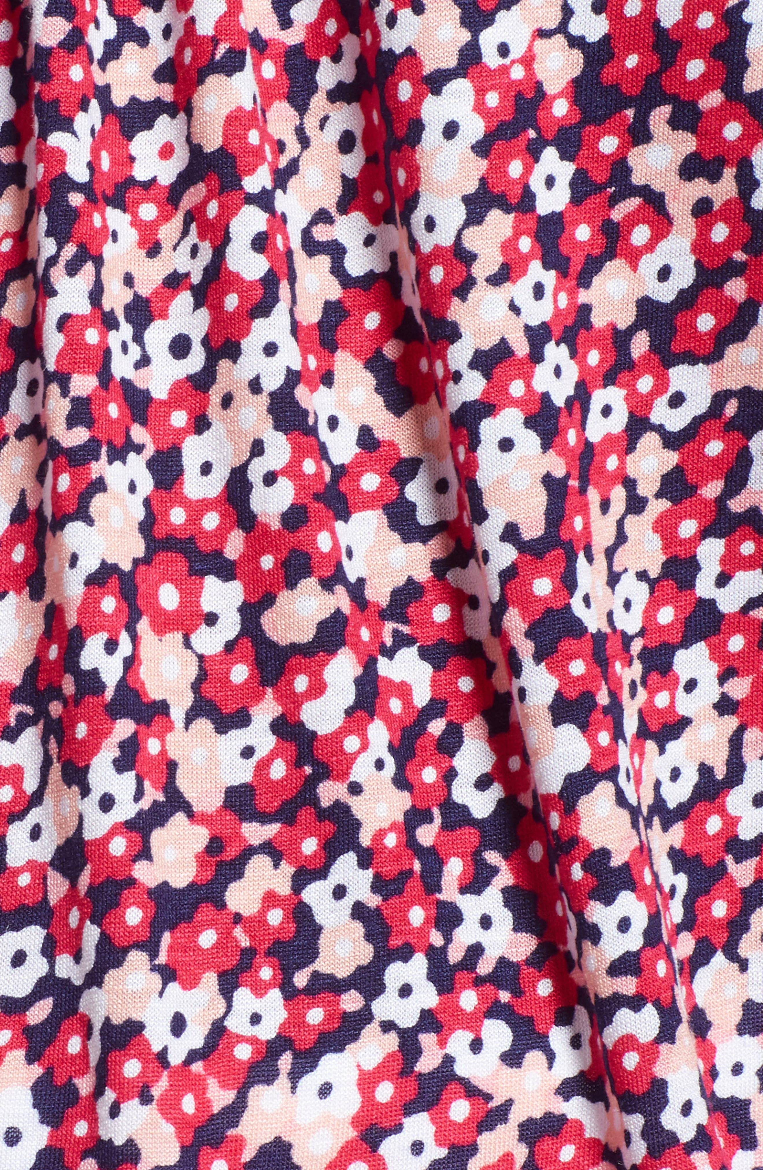 Collage Floral Print Peasant Top,                             Alternate thumbnail 6, color,                             True Navy/ Bright Blush