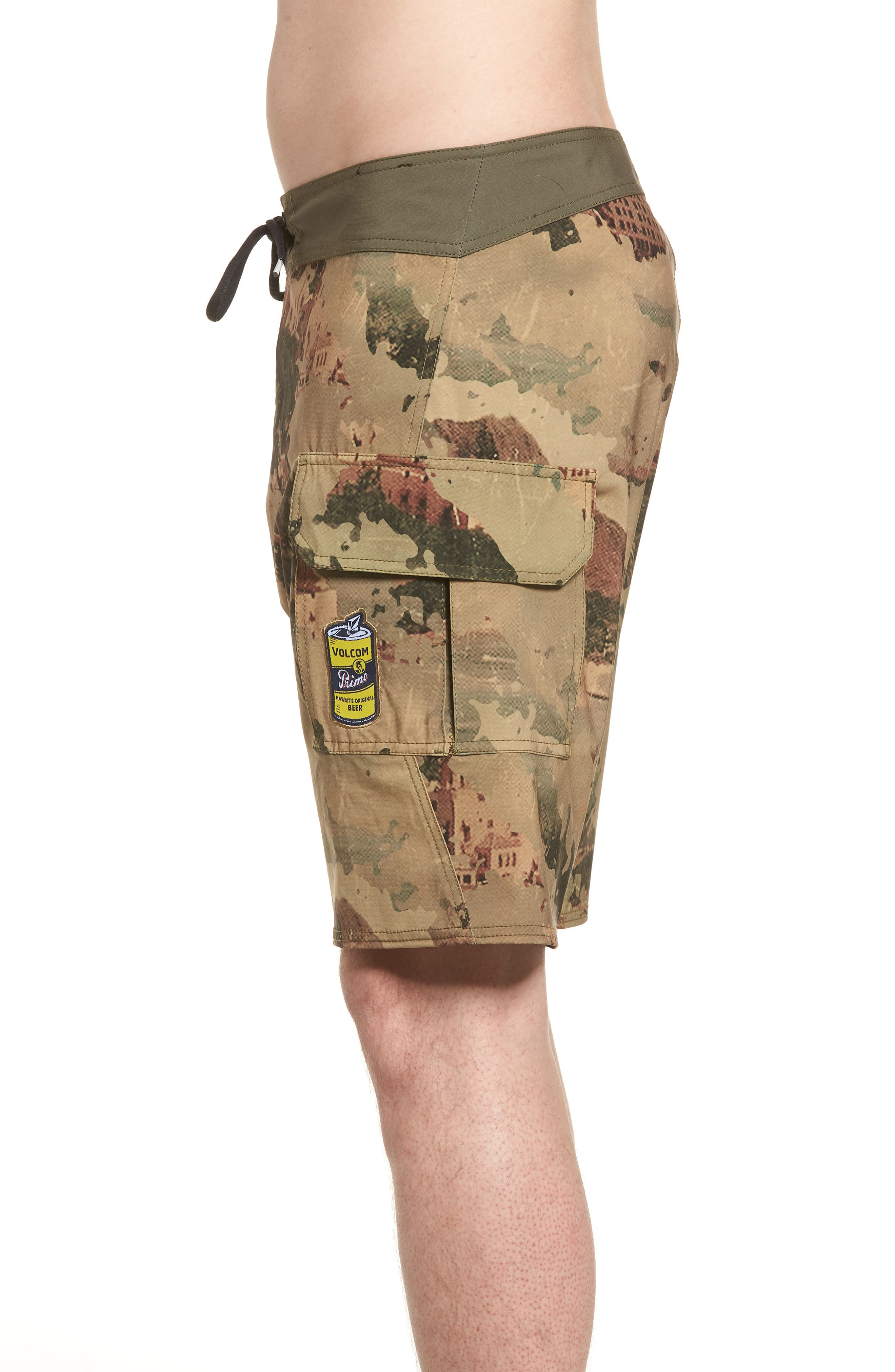 Primo Beer Board Shorts,                             Alternate thumbnail 3, color,                             Camouflage