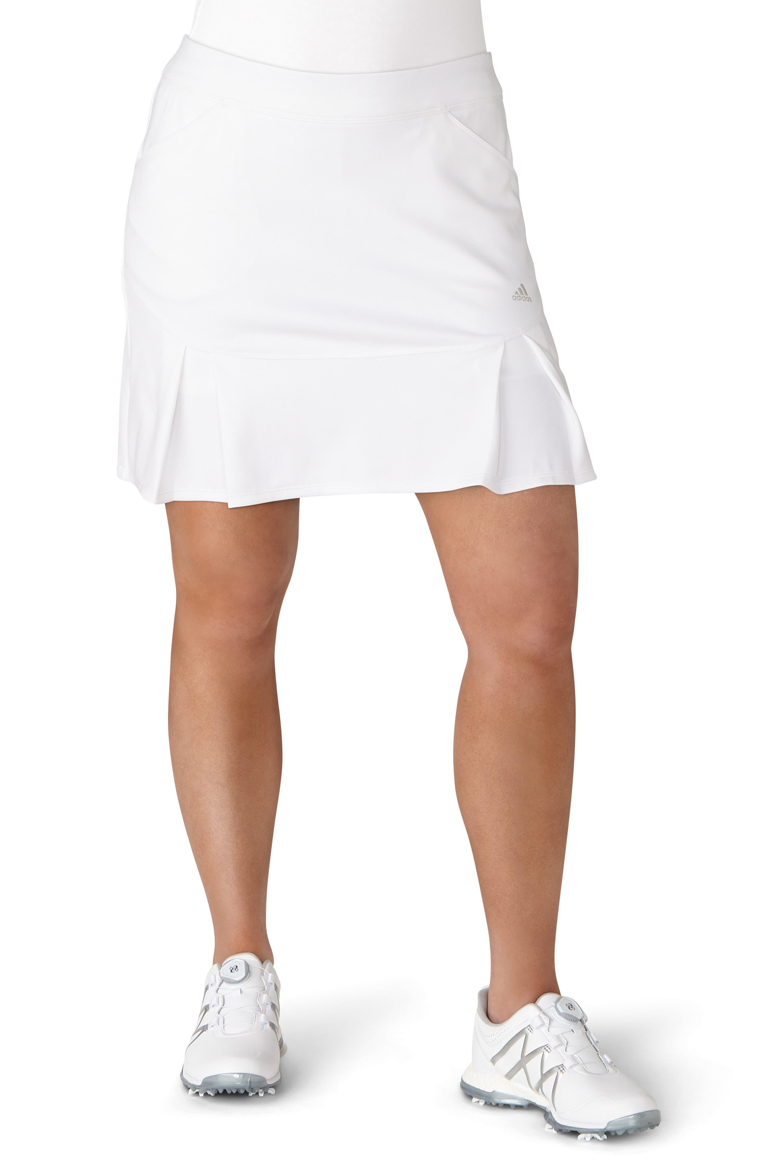 Pleated Fashion Golf Skort,                         Main,                         color, White