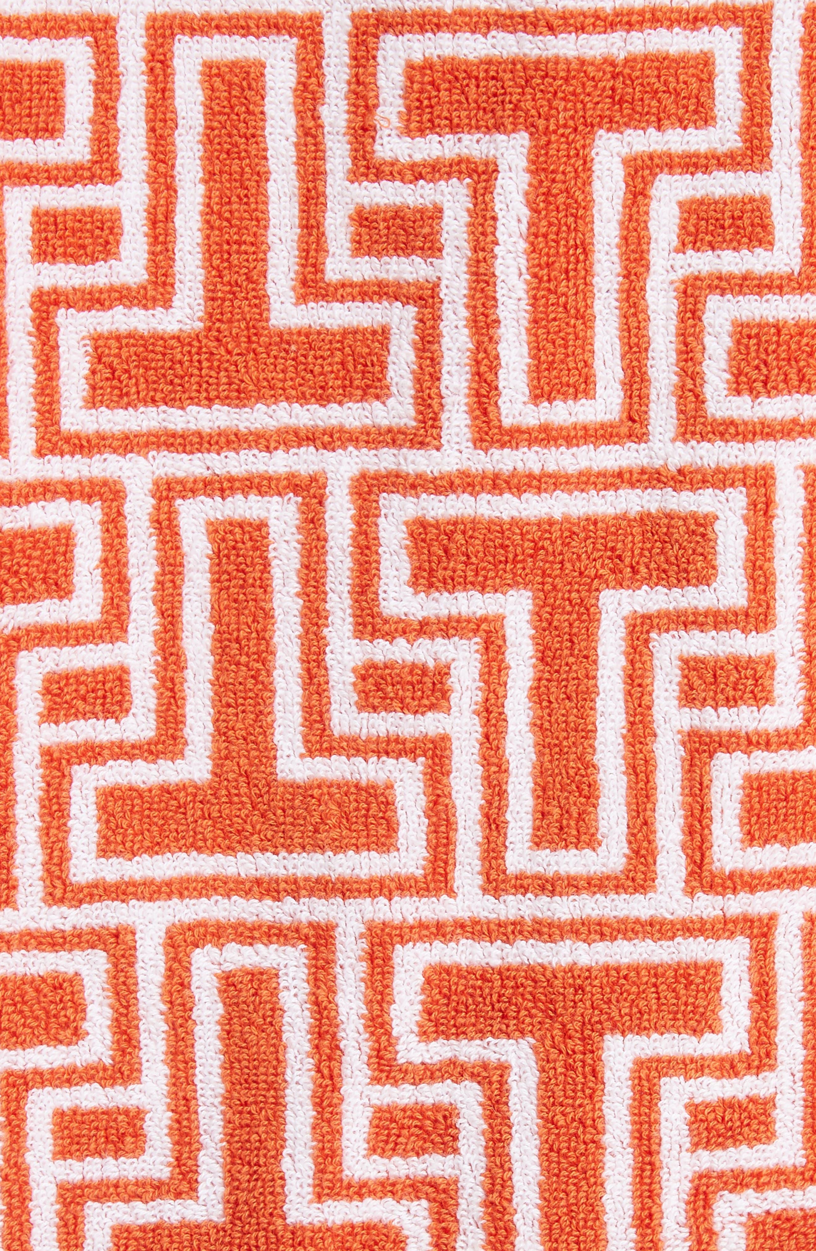 Tile T Terry Coat,                             Alternate thumbnail 5, color,                             Orange Towel Jacquard