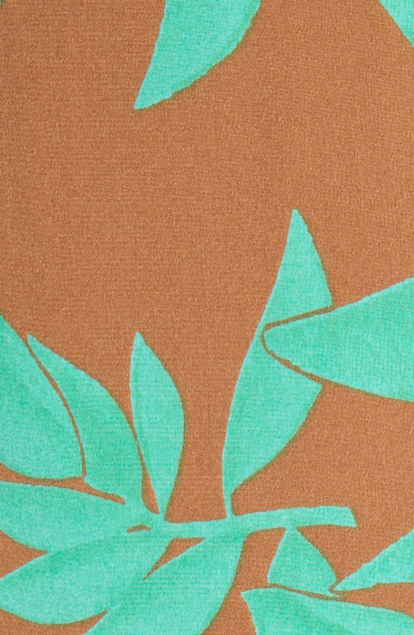 Asymmetrical Faux Wrap Dress,                             Alternate thumbnail 5, color,                             Acorn Jade