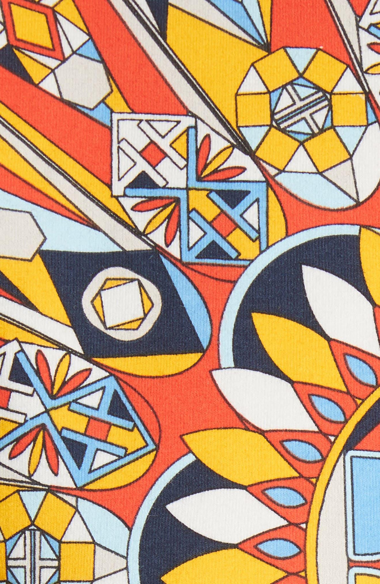 Keaton Tee,                             Alternate thumbnail 5, color,                             Psychedelic Geo Logo