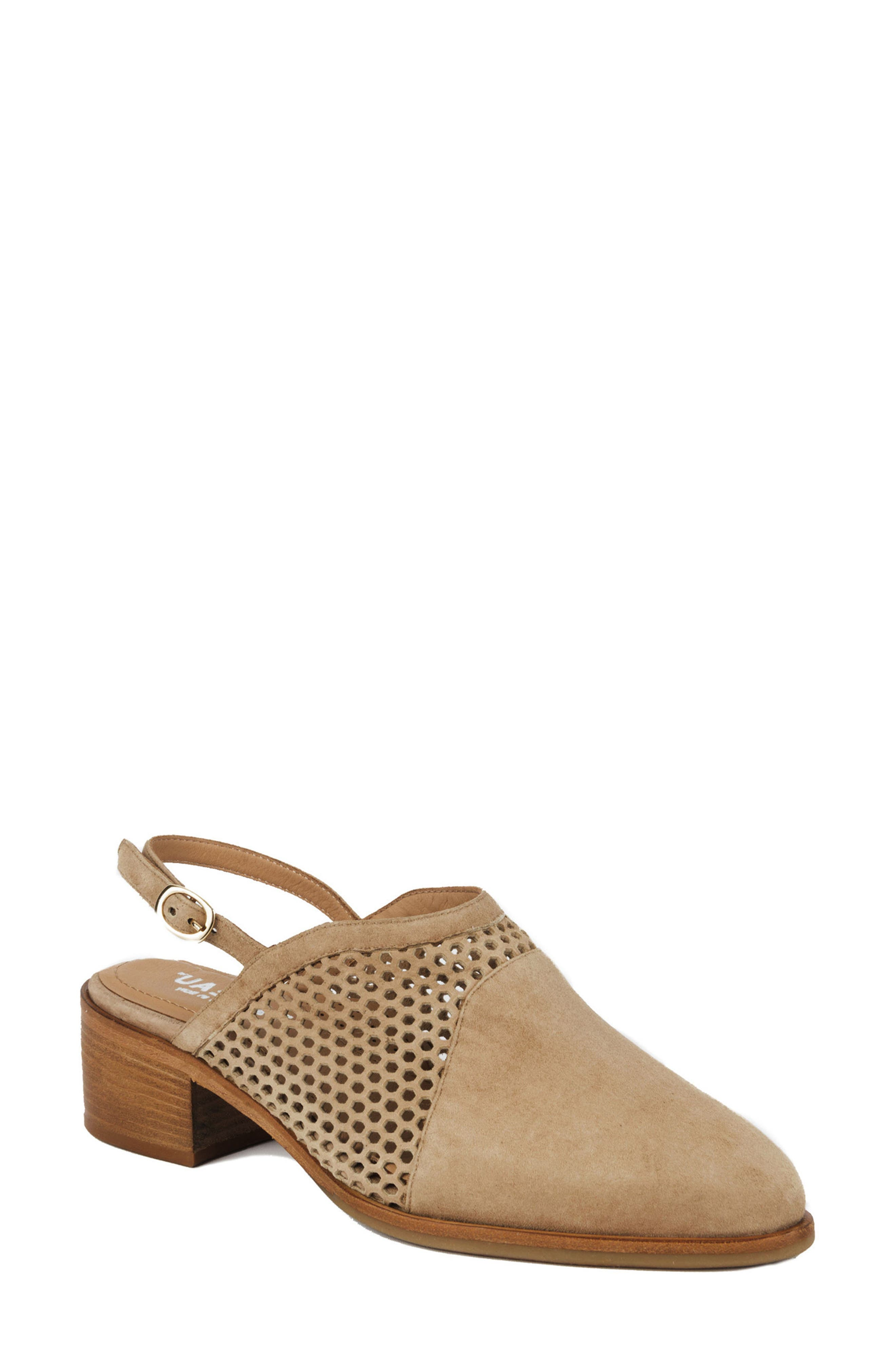 Toselli Water Resistant Slingback Bootie,                             Main thumbnail 1, color,                             Sand