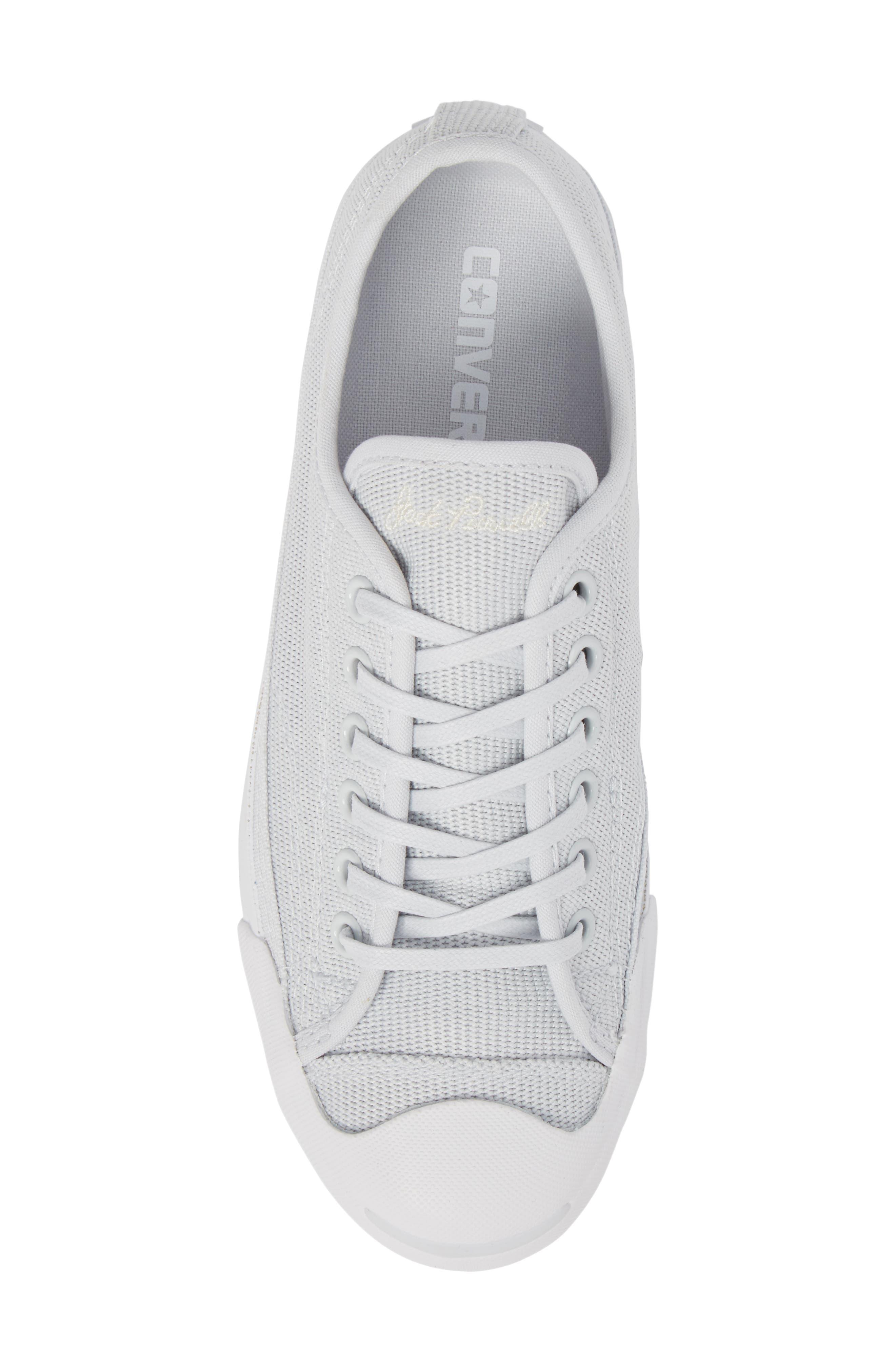 Jack Purcell Low Top Sneaker,                             Alternate thumbnail 5, color,                             Pure Platinum