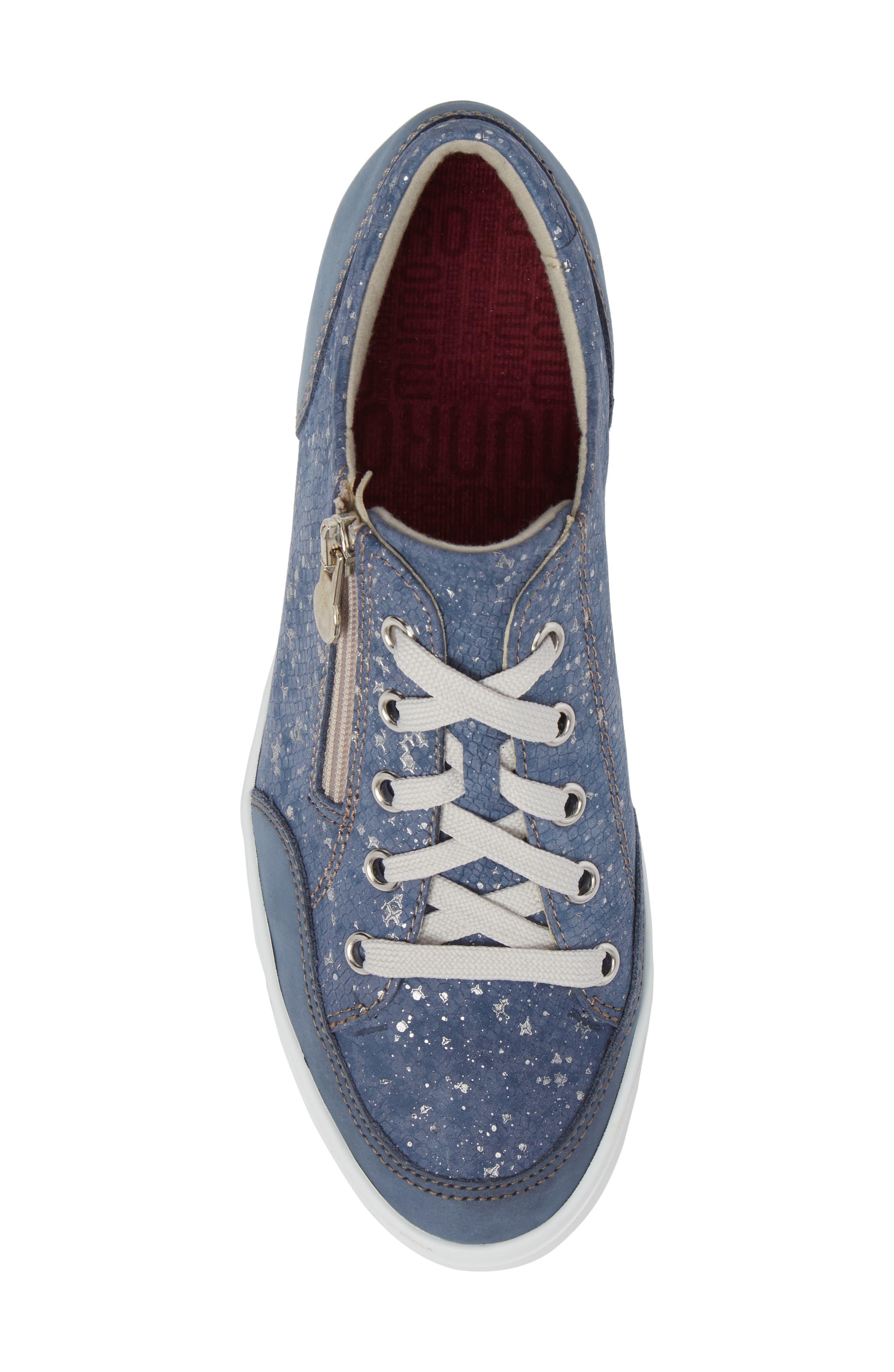 Gabbie Sneaker,                             Alternate thumbnail 5, color,                             Denim Metallic Print