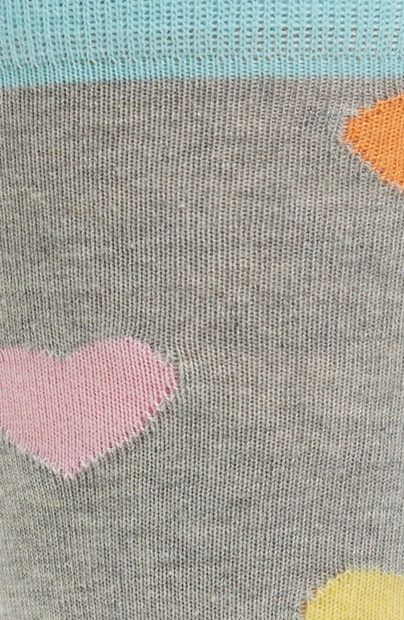 Hearts Socks,                             Alternate thumbnail 2, color,                             Grey Multi