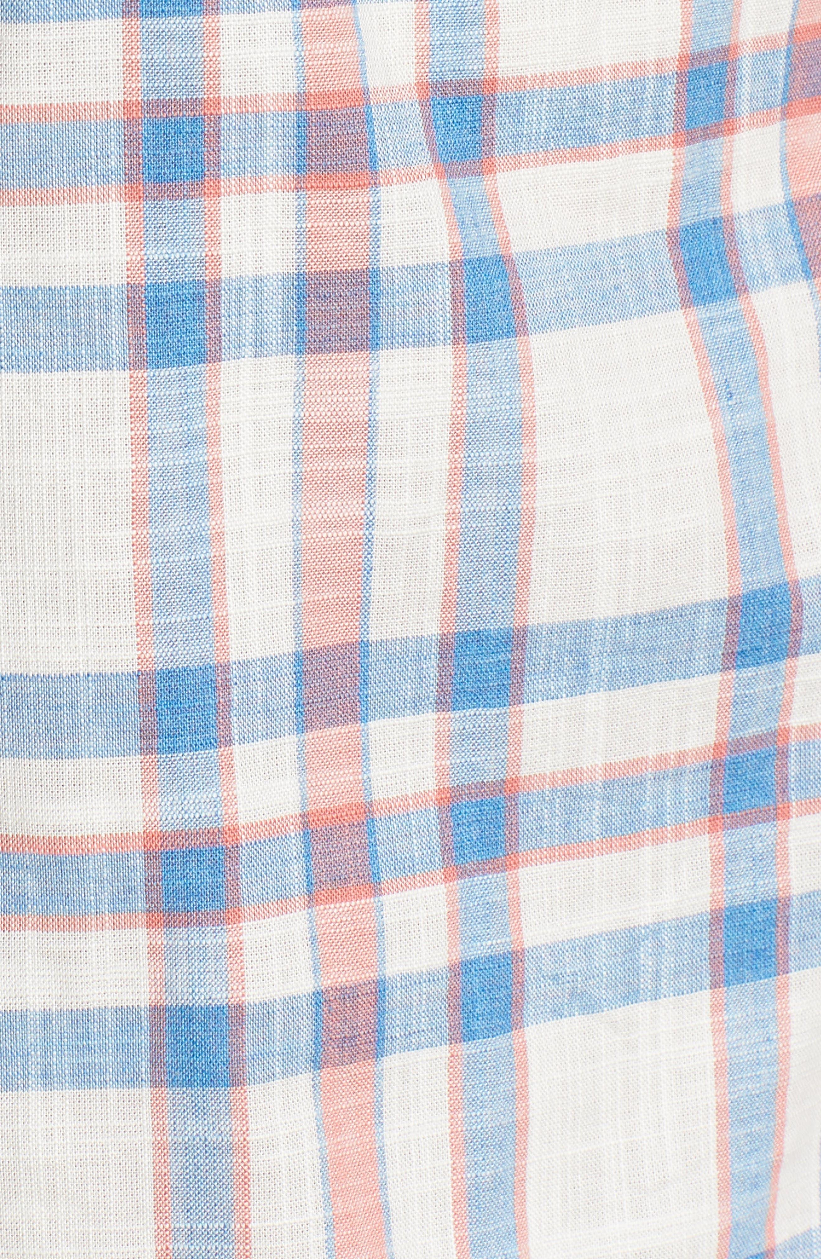 Ellington Regular Fit Sport Shirt,                             Alternate thumbnail 5, color,                             Malibu Red