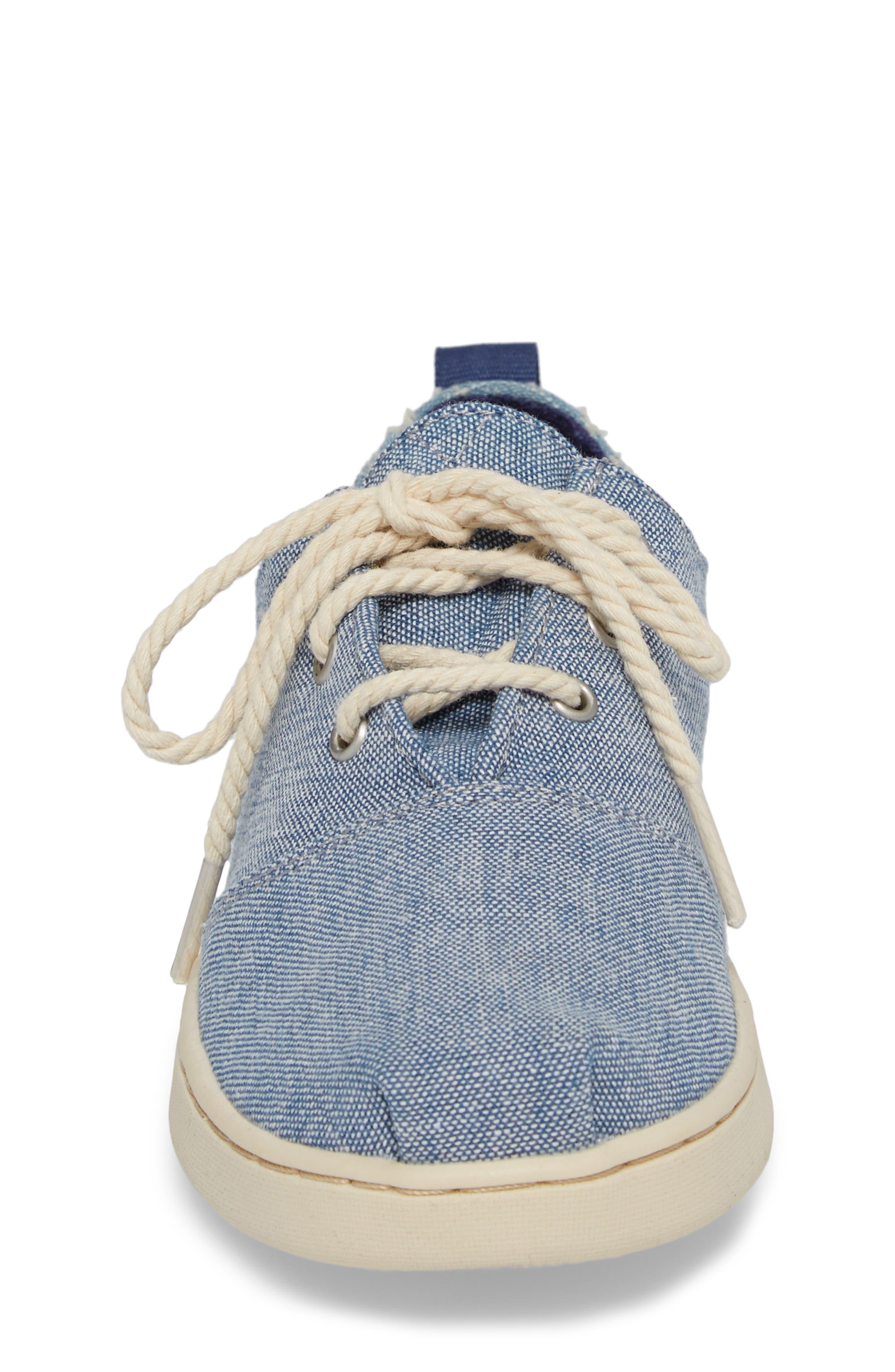 Lumin Sneaker,                             Alternate thumbnail 4, color,                             Blue Chambray