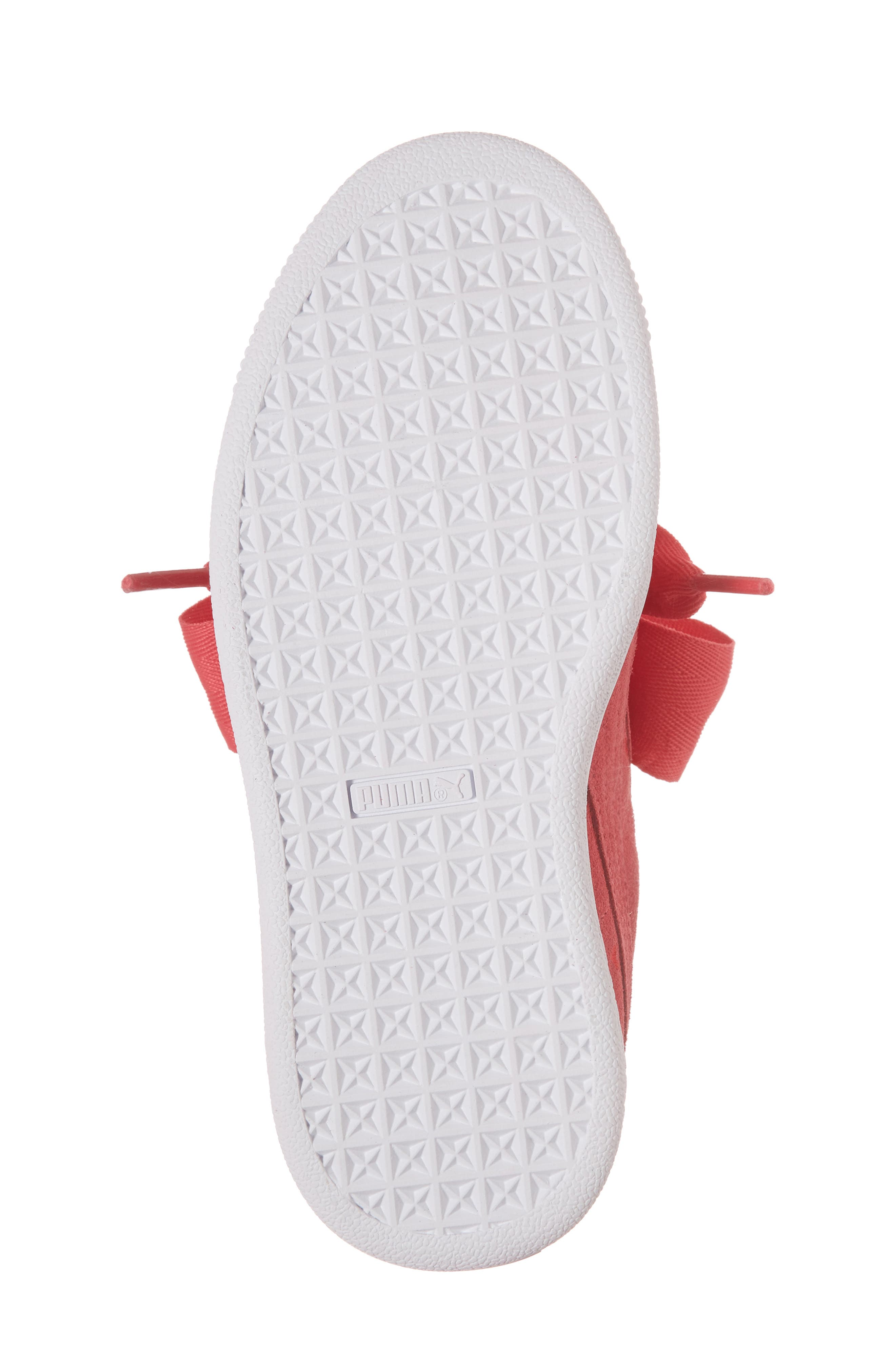 Suede Heart Valentine Sneaker,                             Alternate thumbnail 6, color,                             Paradise Pink/ Paradise Pink