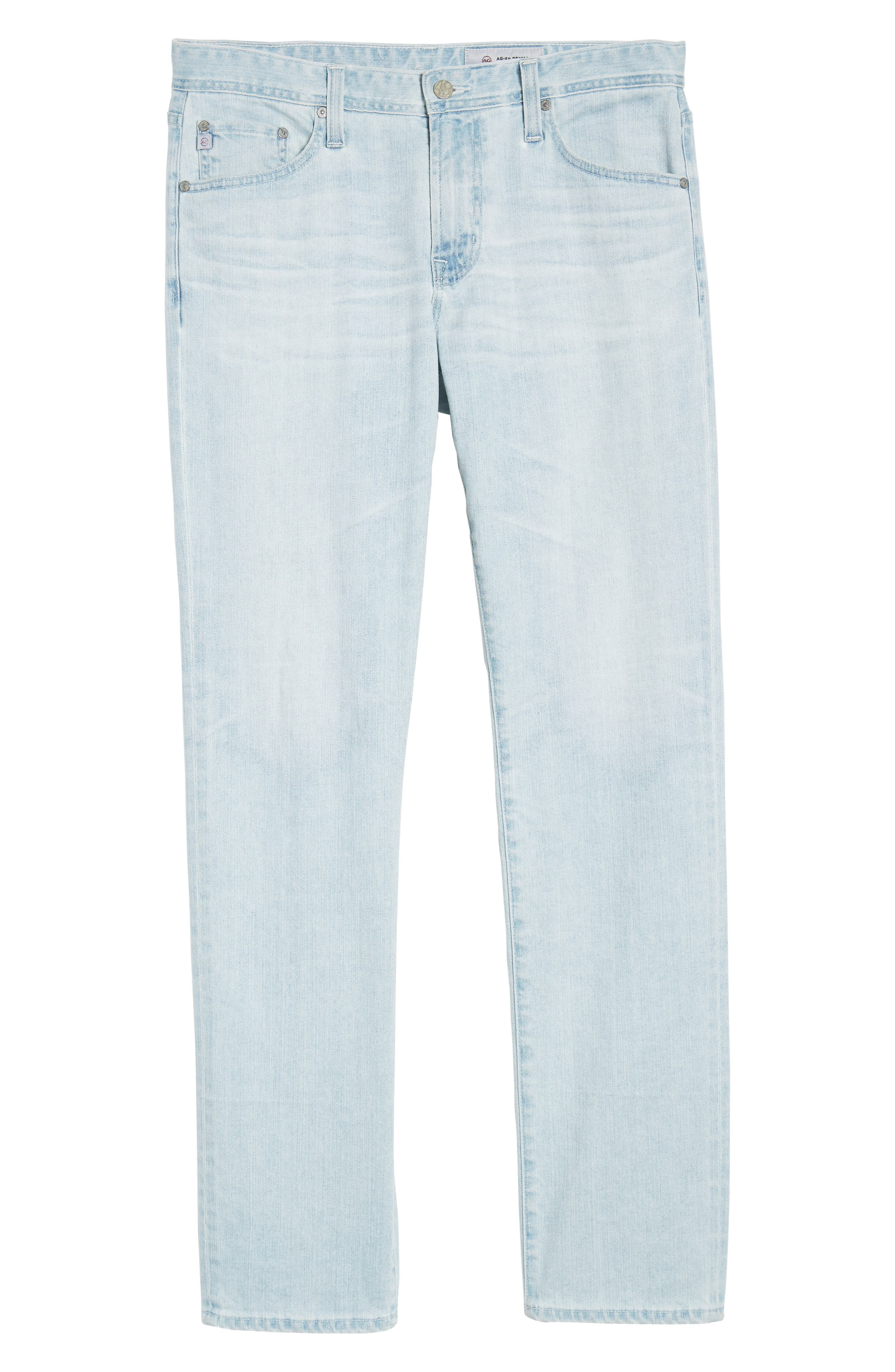 Graduate Slim Straight Leg Jeans,                             Alternate thumbnail 6, color,                             27 Years Bayside