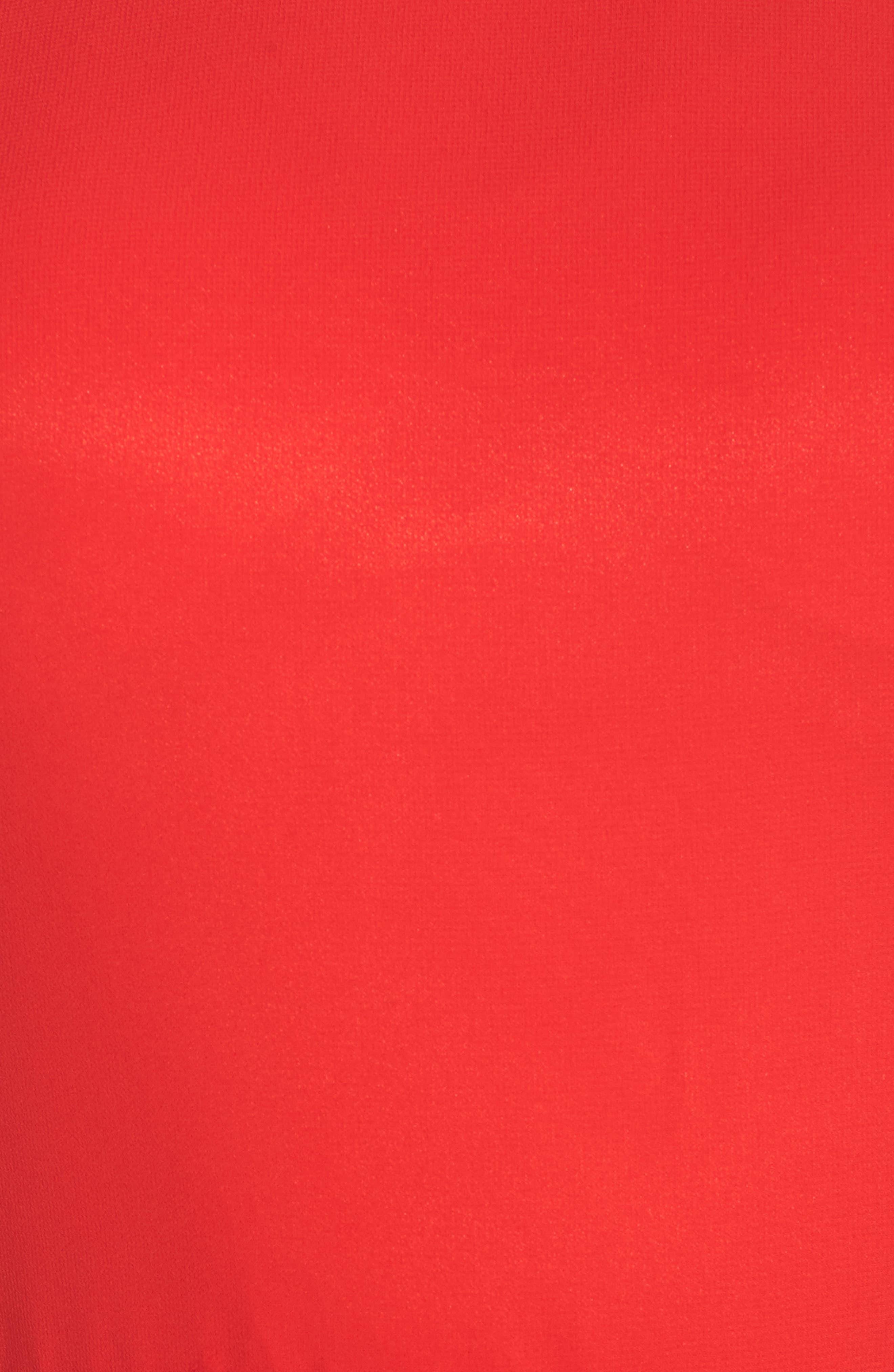 Bateau Neck Ballgown,                             Alternate thumbnail 5, color,                             Red