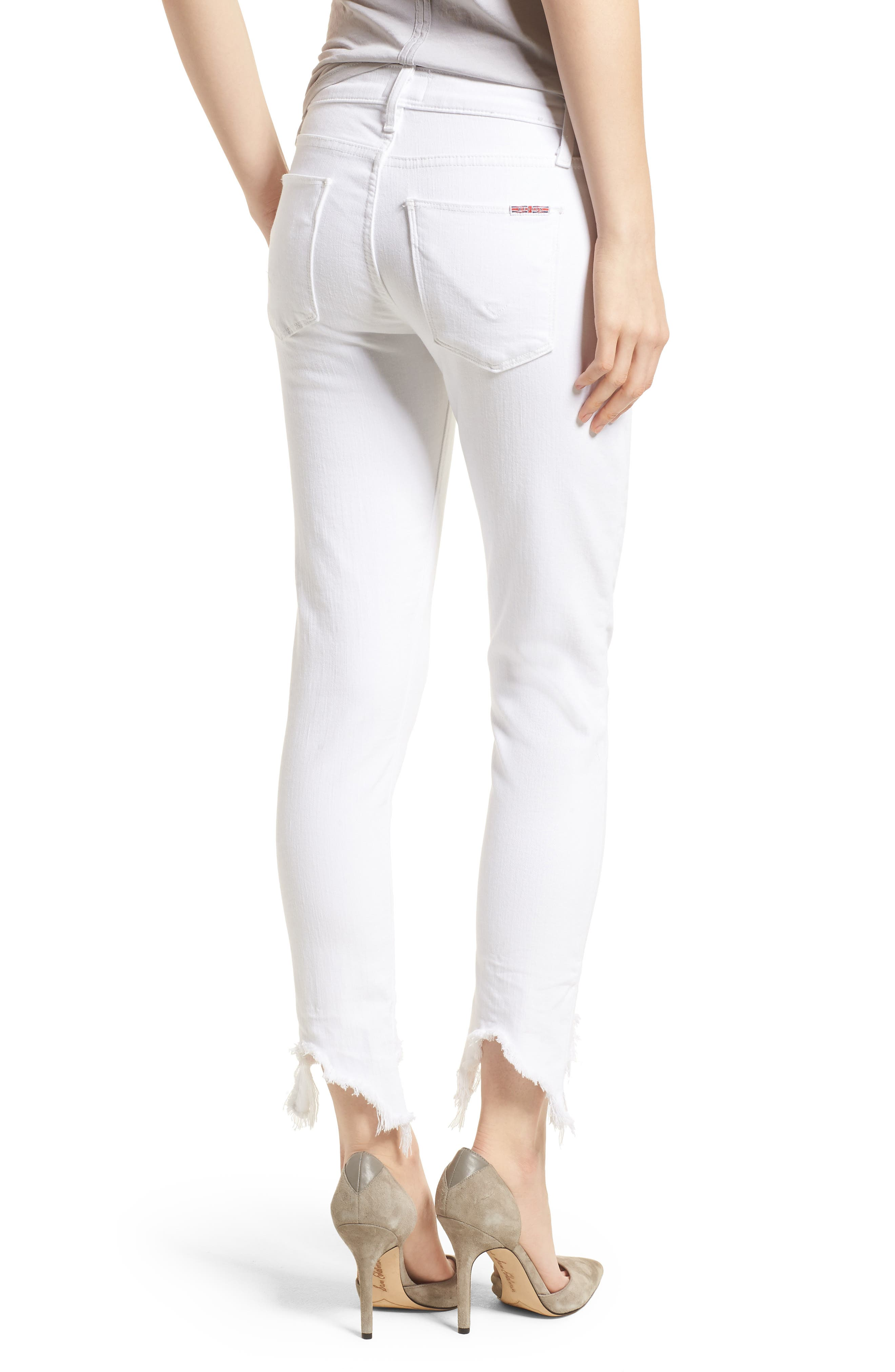 Tally Ankle Skinny Jeans,                             Alternate thumbnail 2, color,                             Destroyed Optical White