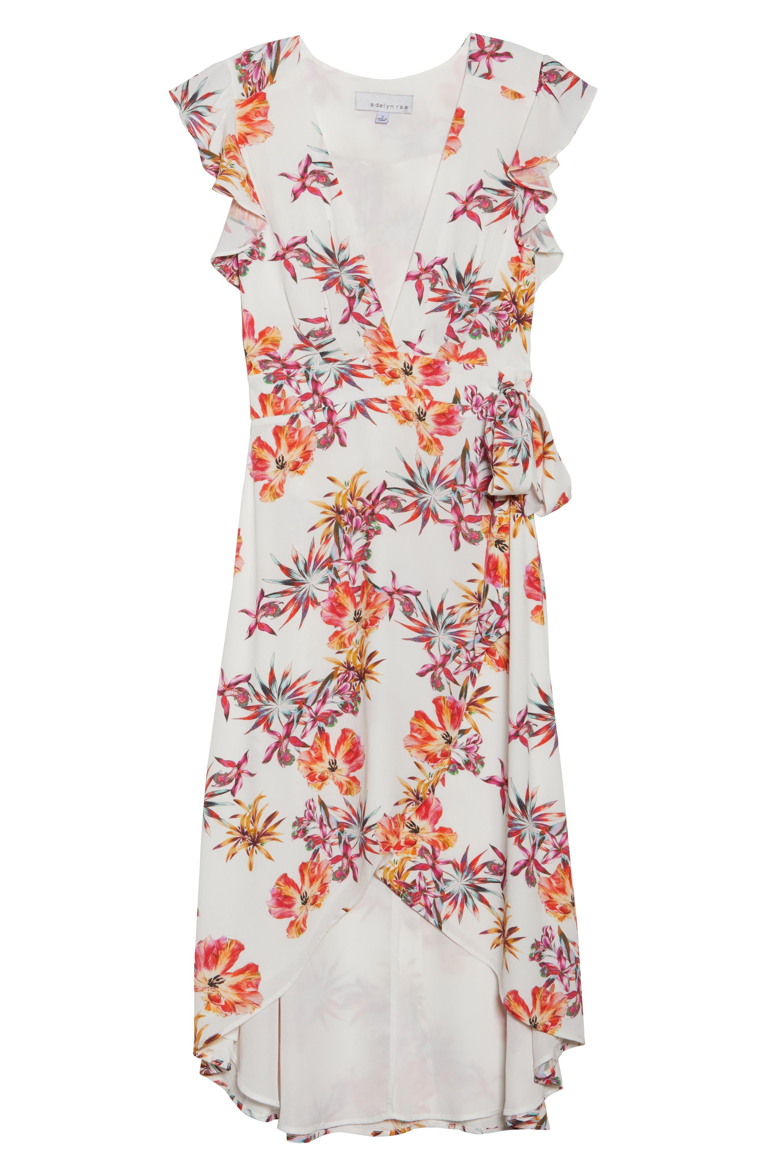 Alternate Image 6  - Adelyn Rae Eloise High/Low Wrap Dress