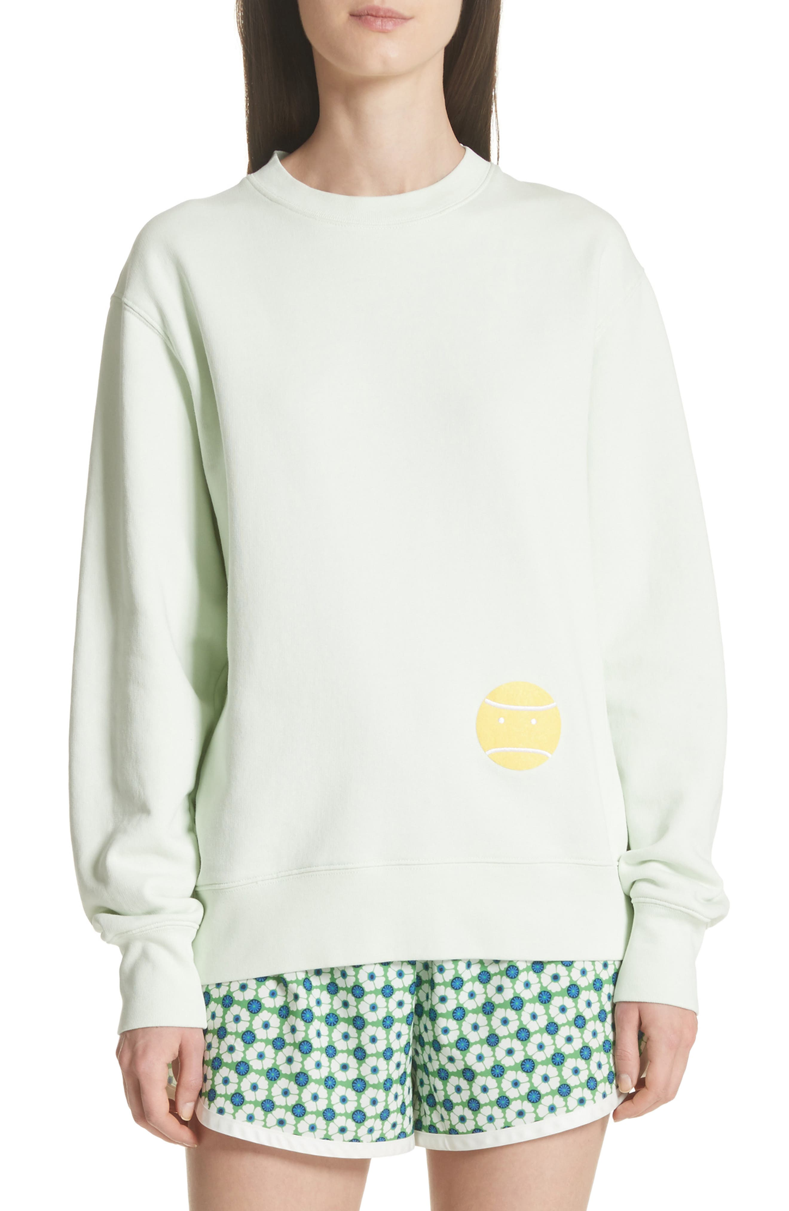 Little Grump French Terry Sweatshirt,                             Main thumbnail 1, color,                             Fresh Mint