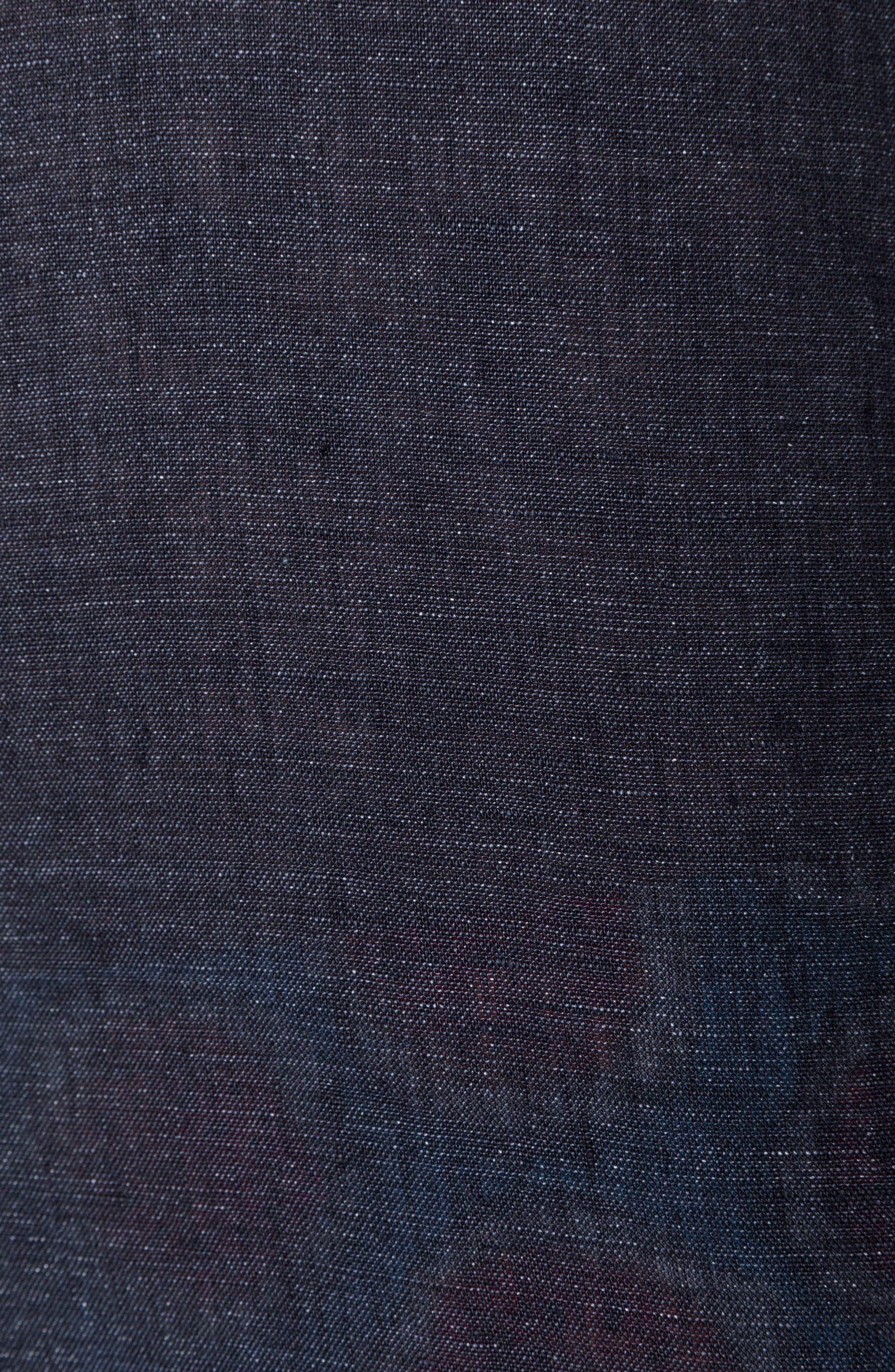 Landsdown Regular Fit Linen Sport Shirt,                             Alternate thumbnail 4, color,                             Charcoal