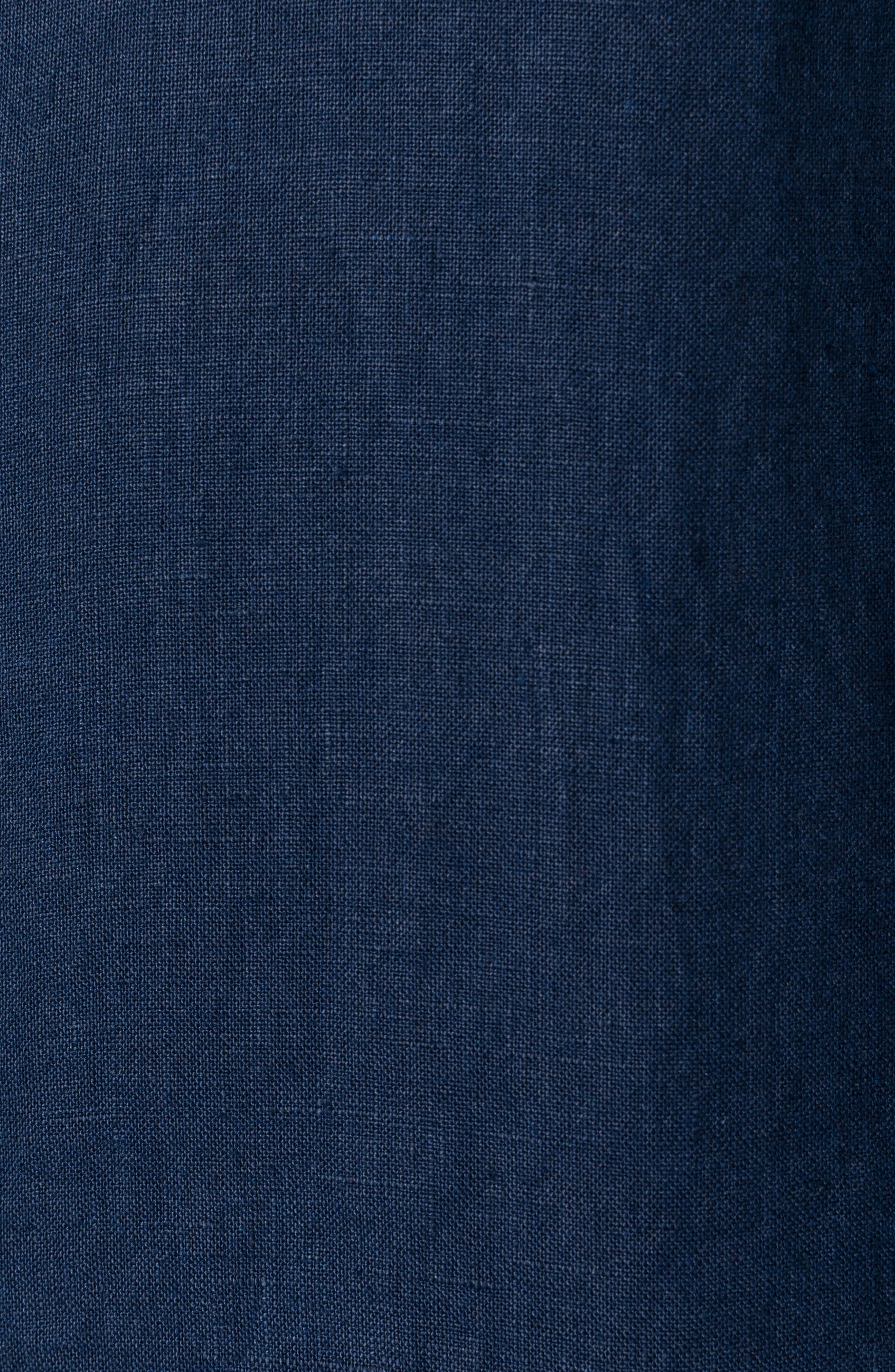 Denver Regular Fit Linen Sport Shirt,                             Alternate thumbnail 4, color,                             Indigo