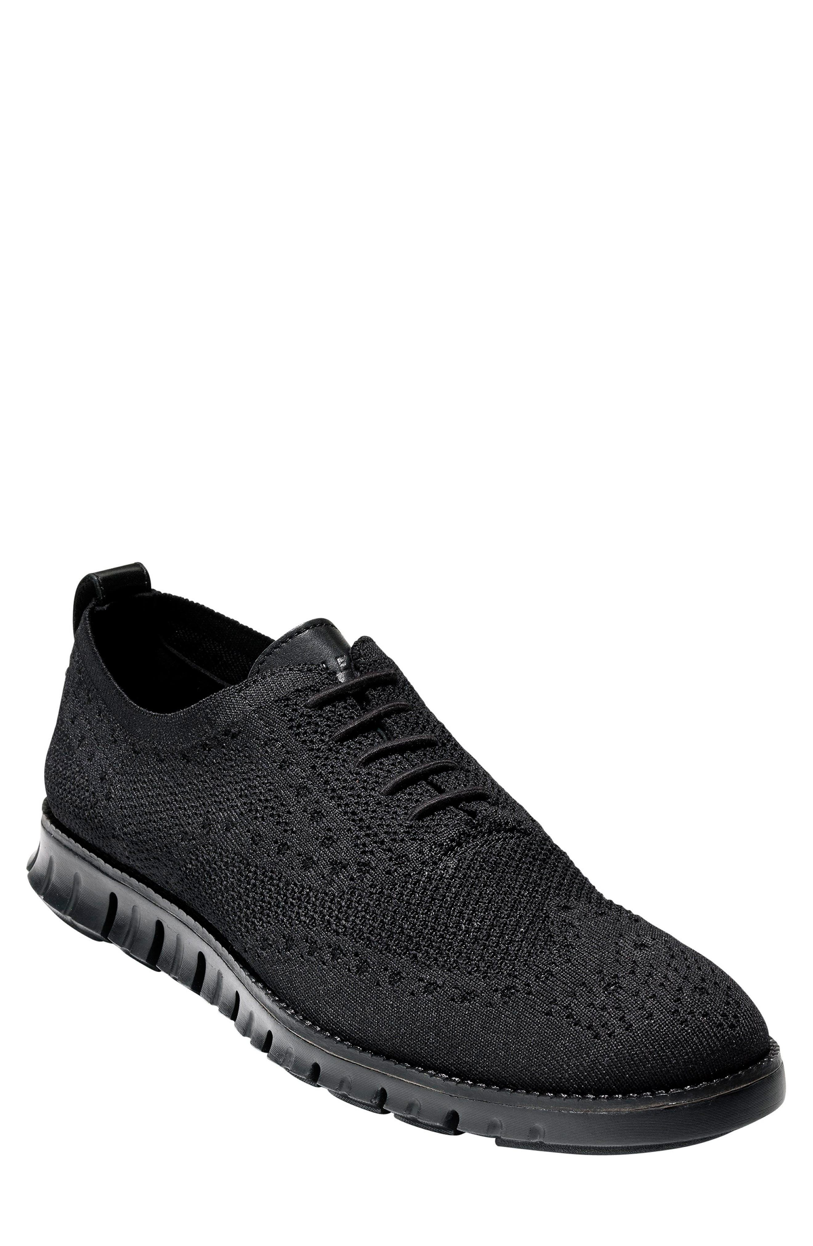 ZeroGrand Stitch-lite Wingtip Oxford,                         Main,                         color, Black