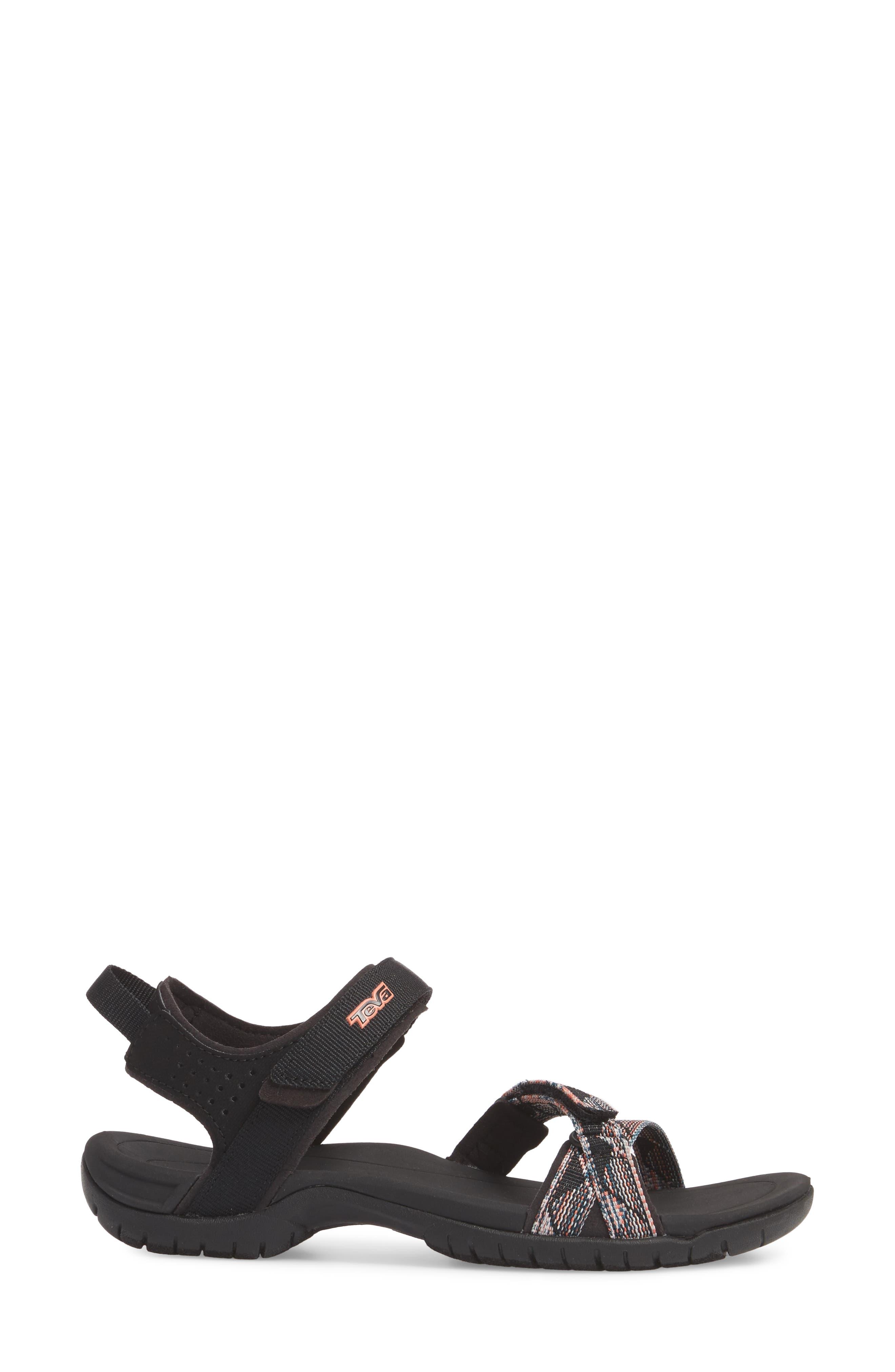 'Verra' Sandal,                             Alternate thumbnail 3, color,                             Suri Black Multi