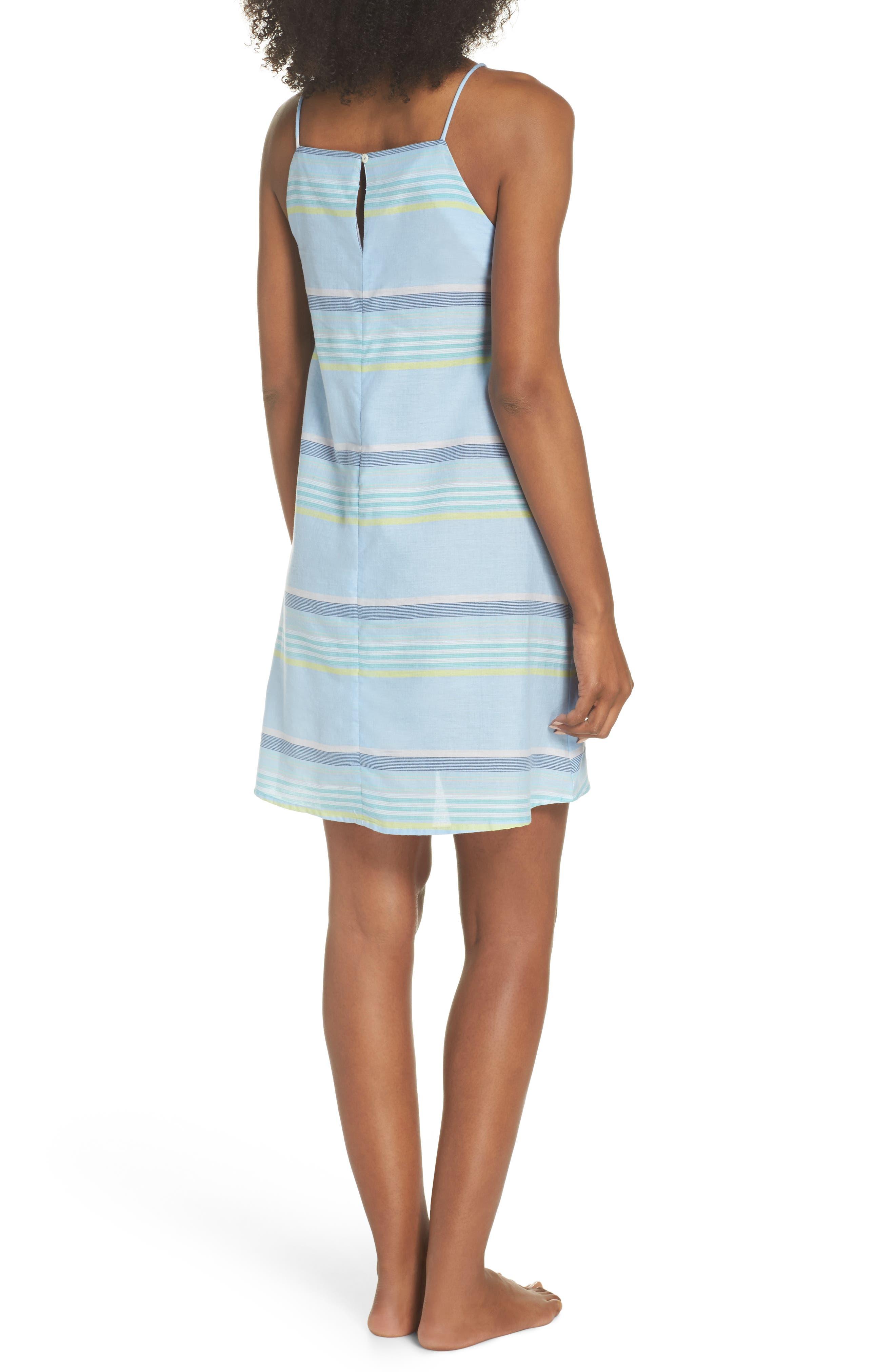 Sunset Stripe Cover-Up Dress,                             Alternate thumbnail 2, color,                             Sky Blue