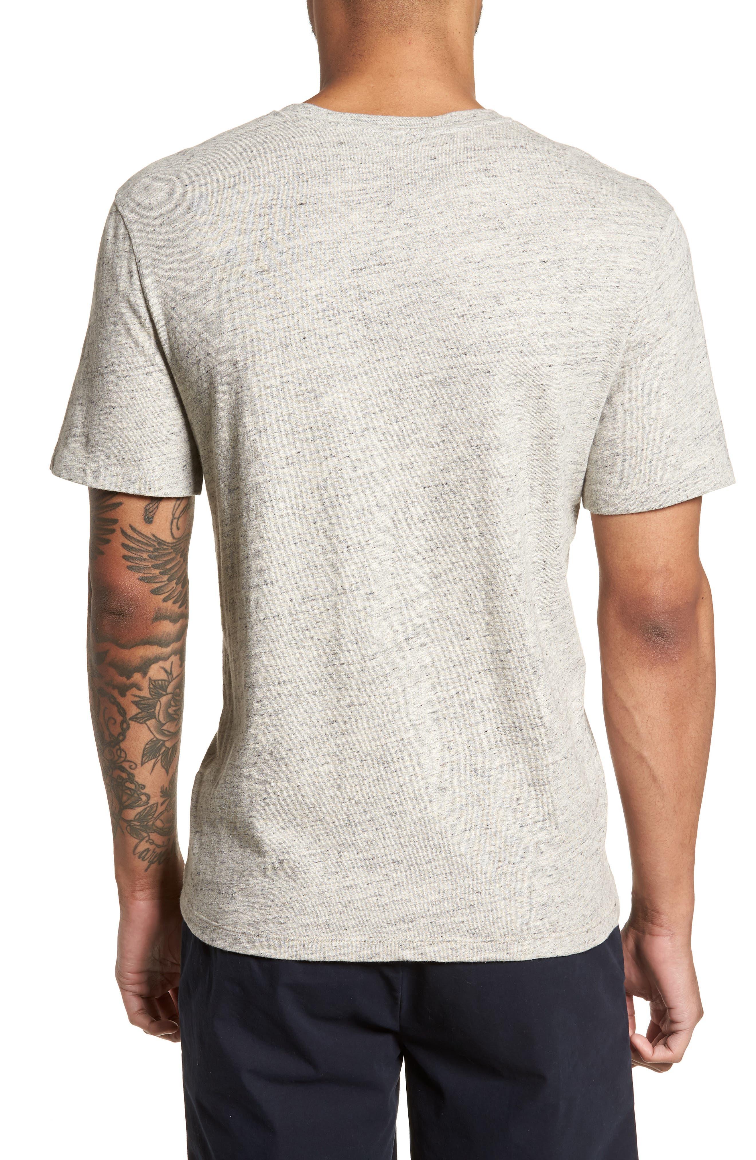 Slim Fit V-Neck T-Shirt,                             Alternate thumbnail 2, color,                             Grey