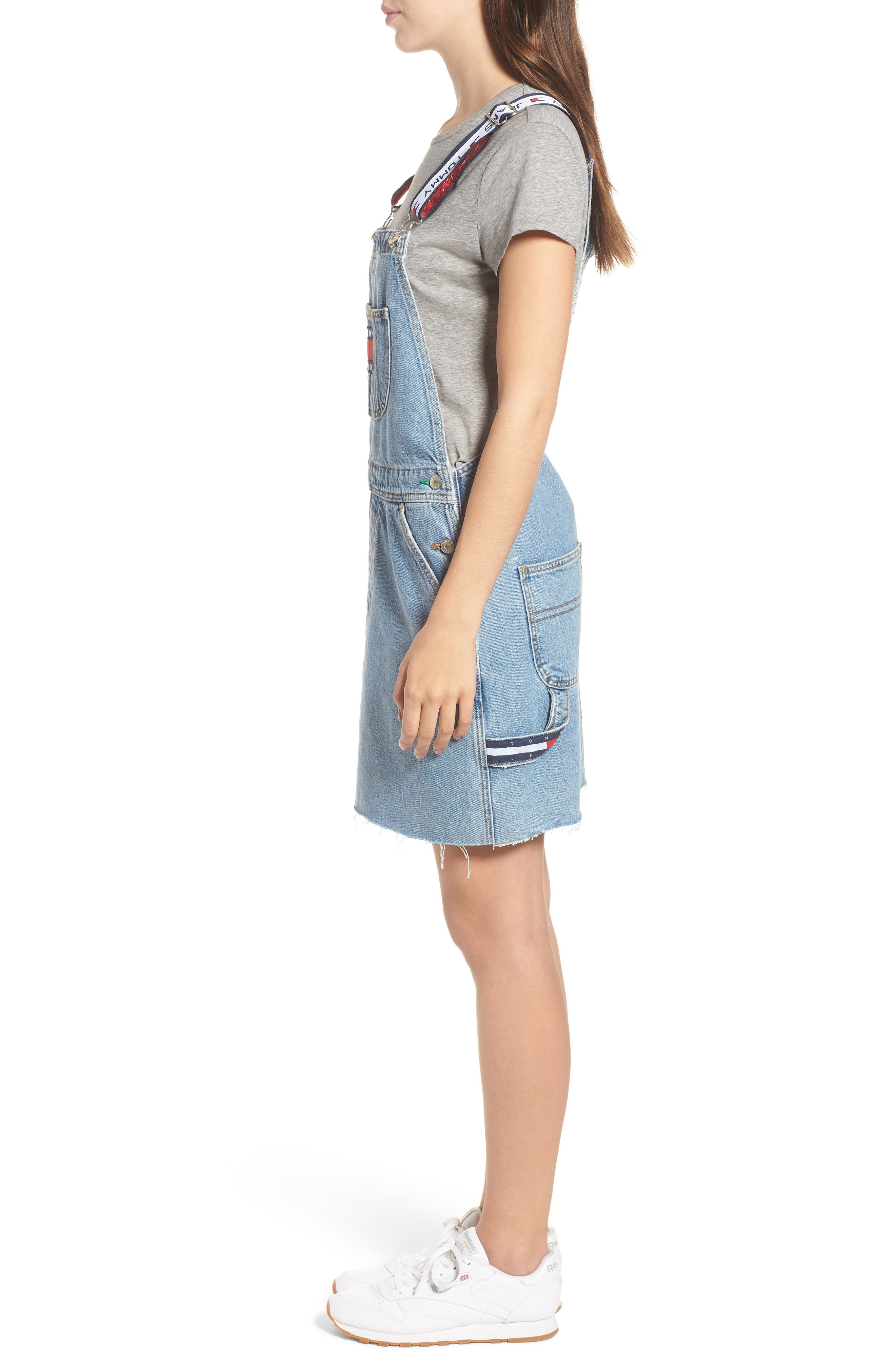 Dunagree Dress,                             Alternate thumbnail 3, color,                             Light Denim Blue