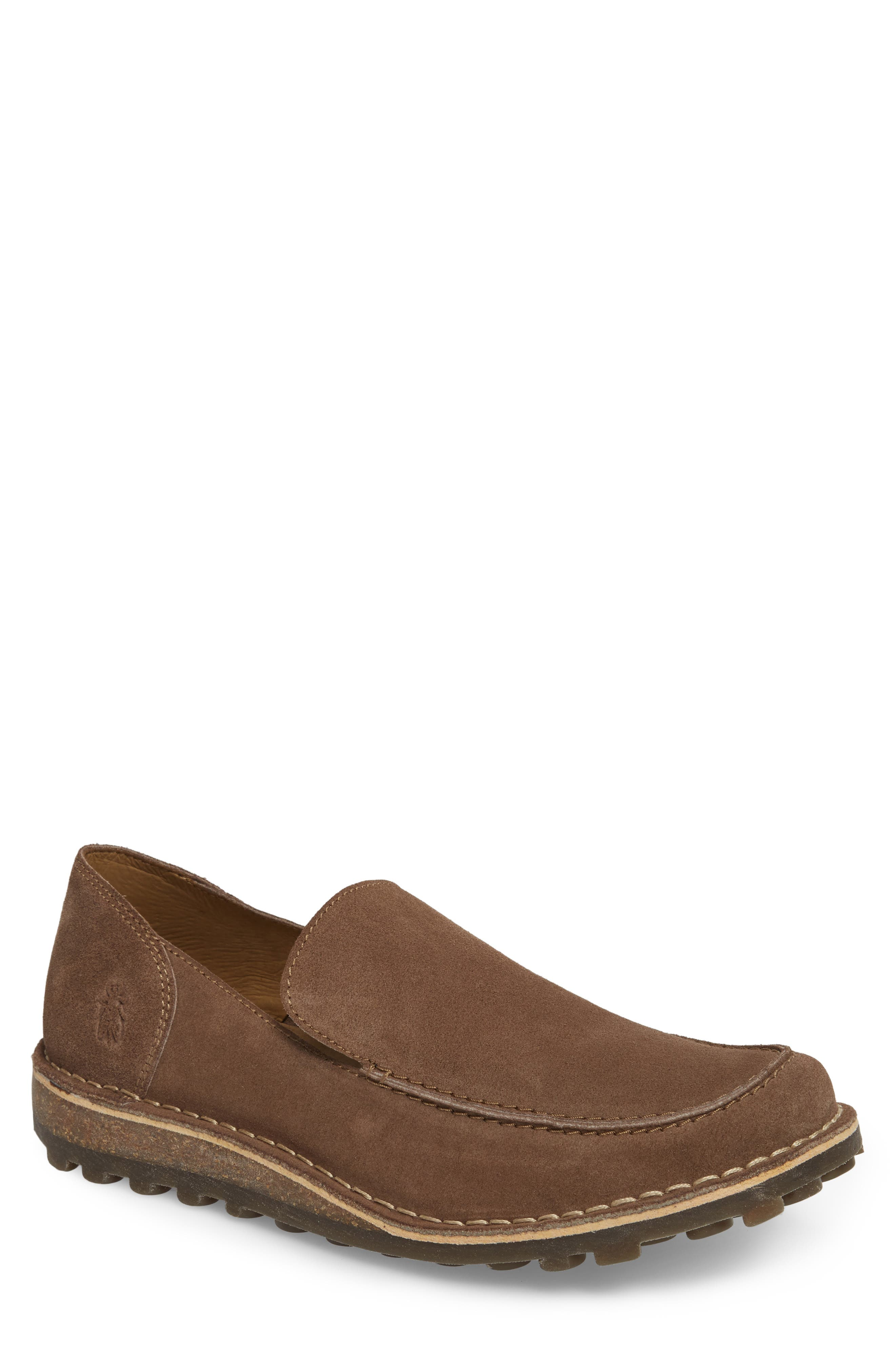 Meve Moc Toe Loafer,                             Main thumbnail 1, color,                             Taupe Suede
