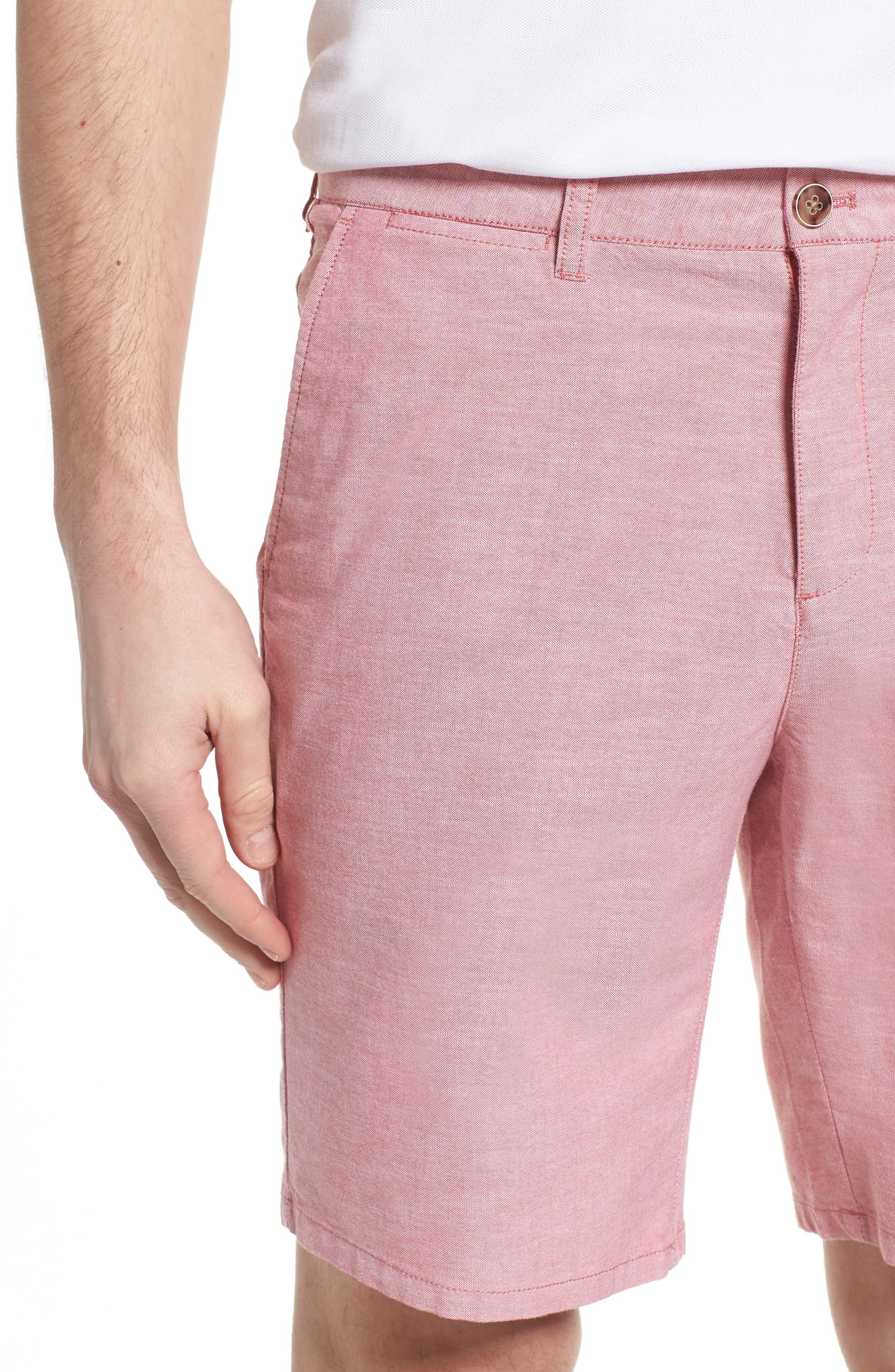 Merritt Regular Fit Shorts,                             Alternate thumbnail 4, color,                             Malibu Red