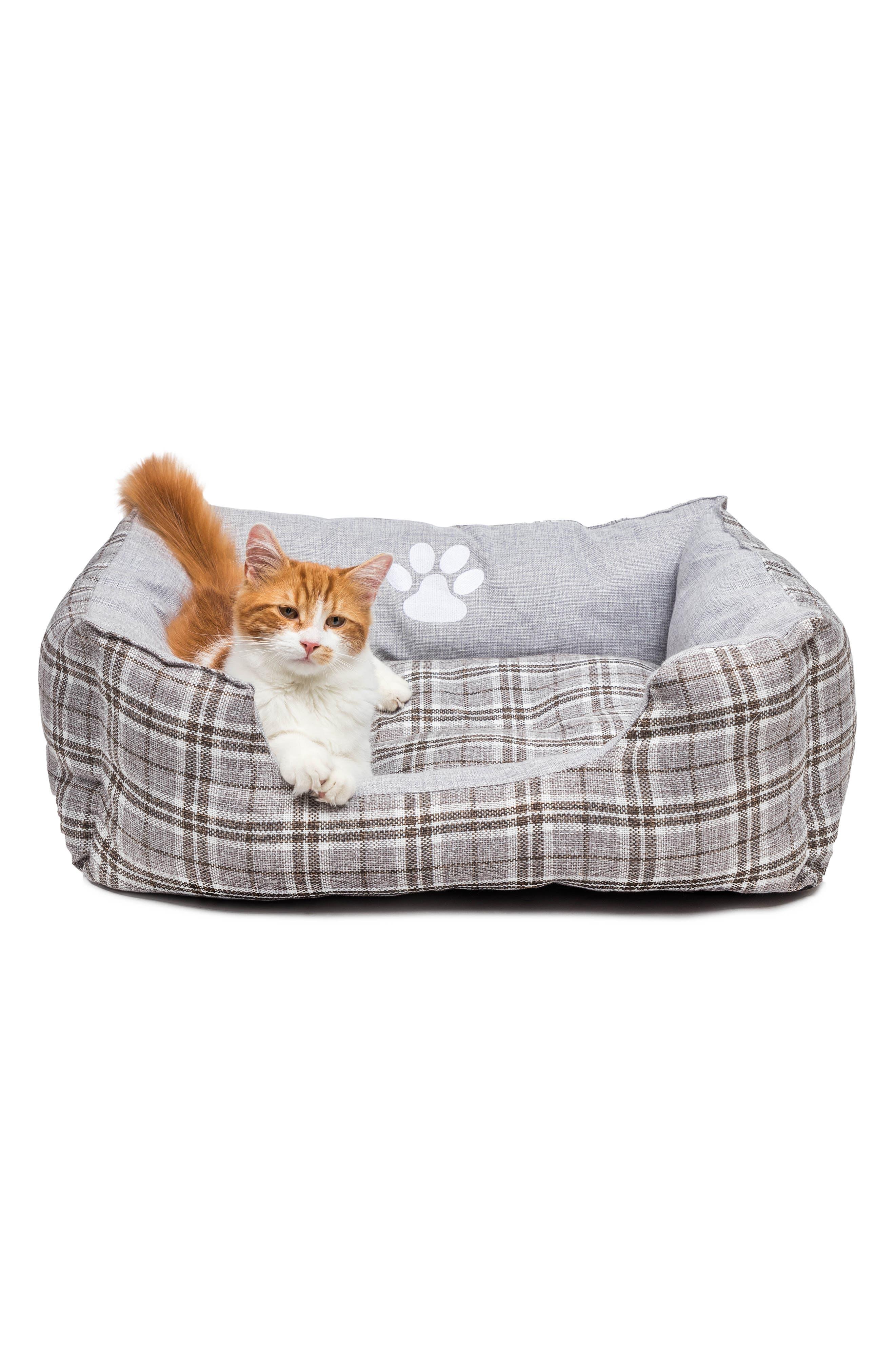Harlee Large Square Pet Bed,                             Alternate thumbnail 2, color,                             Grey
