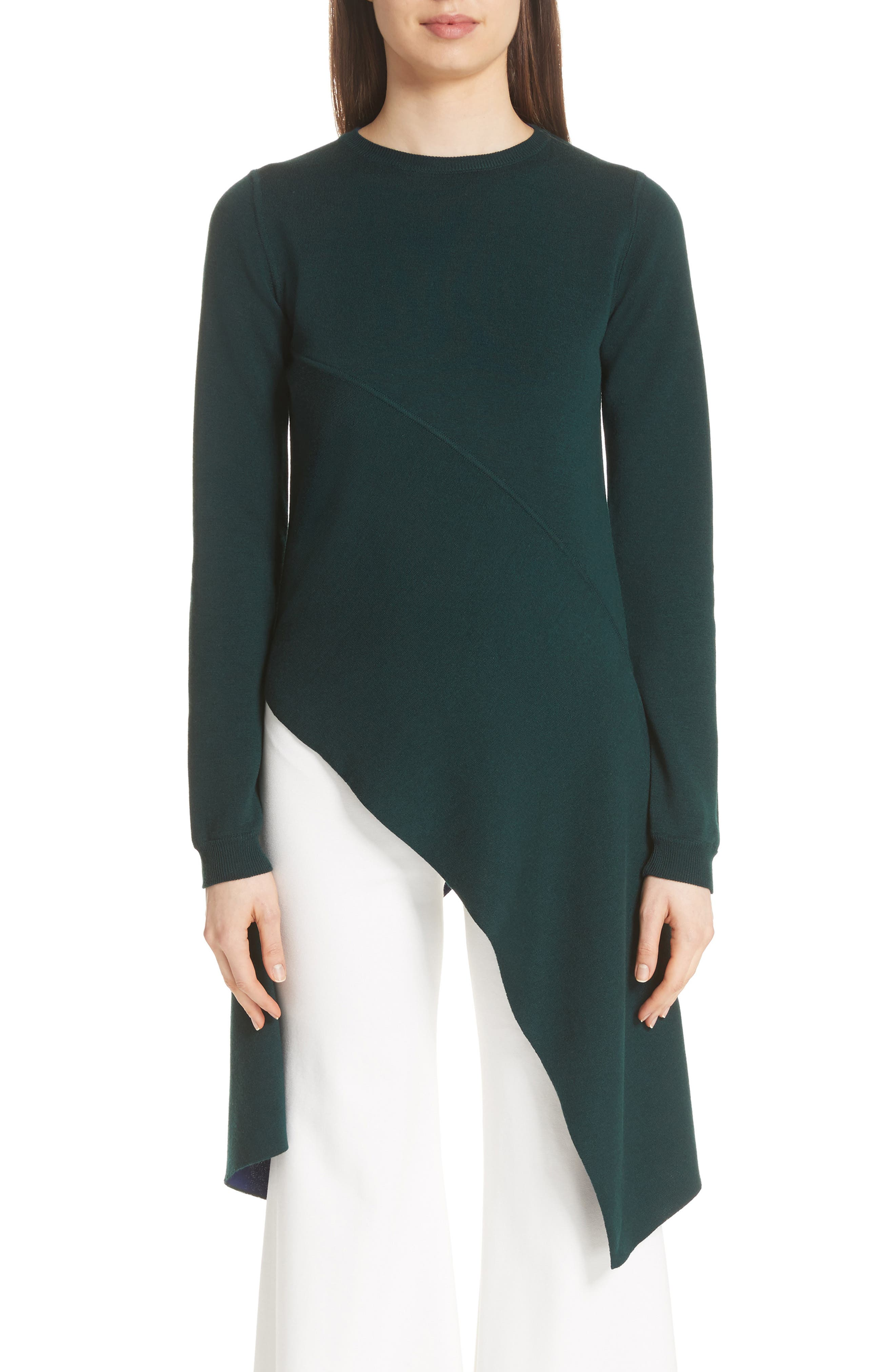 Main Image - Rosetta Getty Reversible Knit Asymmetrical Top