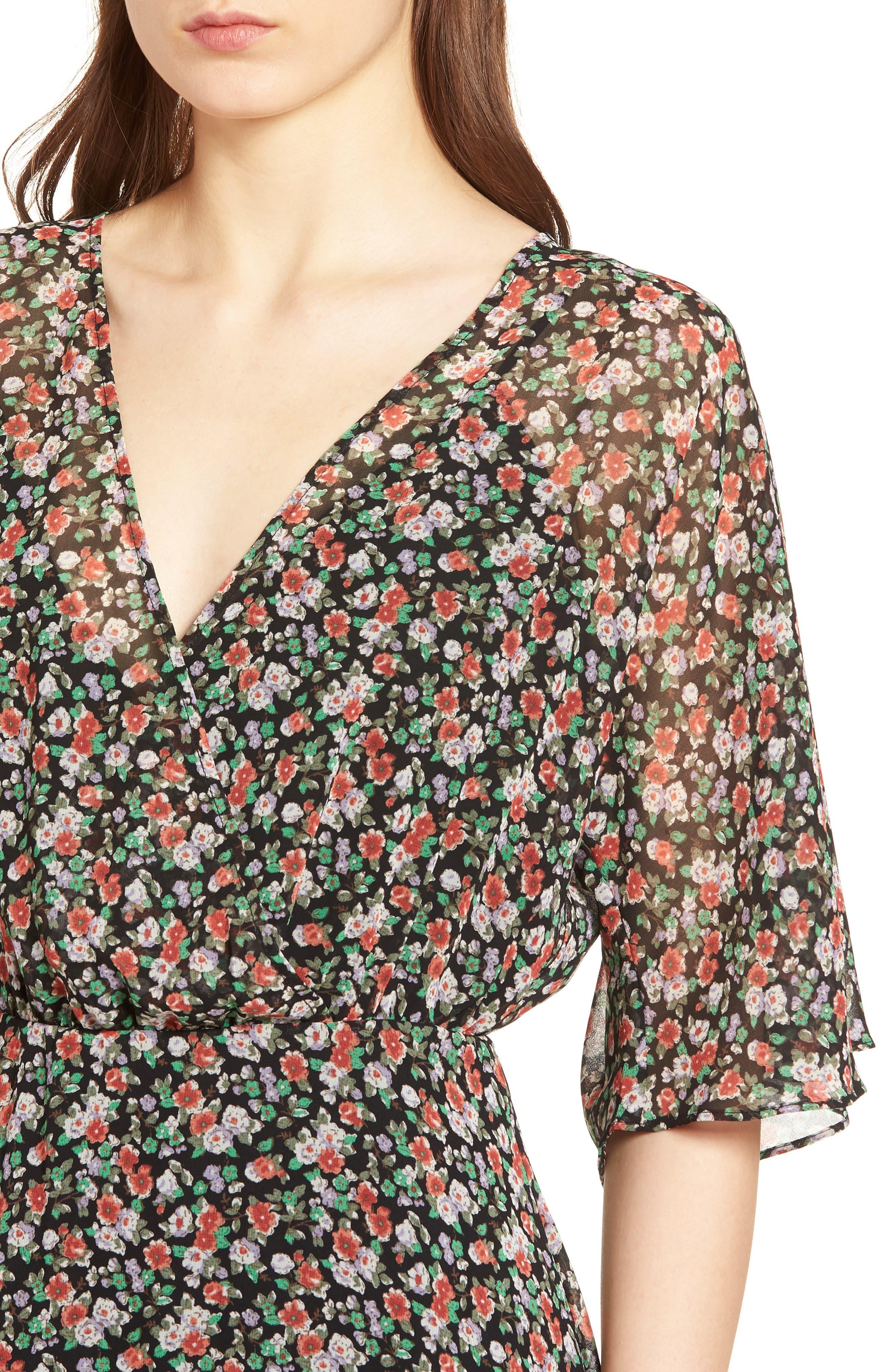 Ali Dress,                             Alternate thumbnail 4, color,                             Black Multi