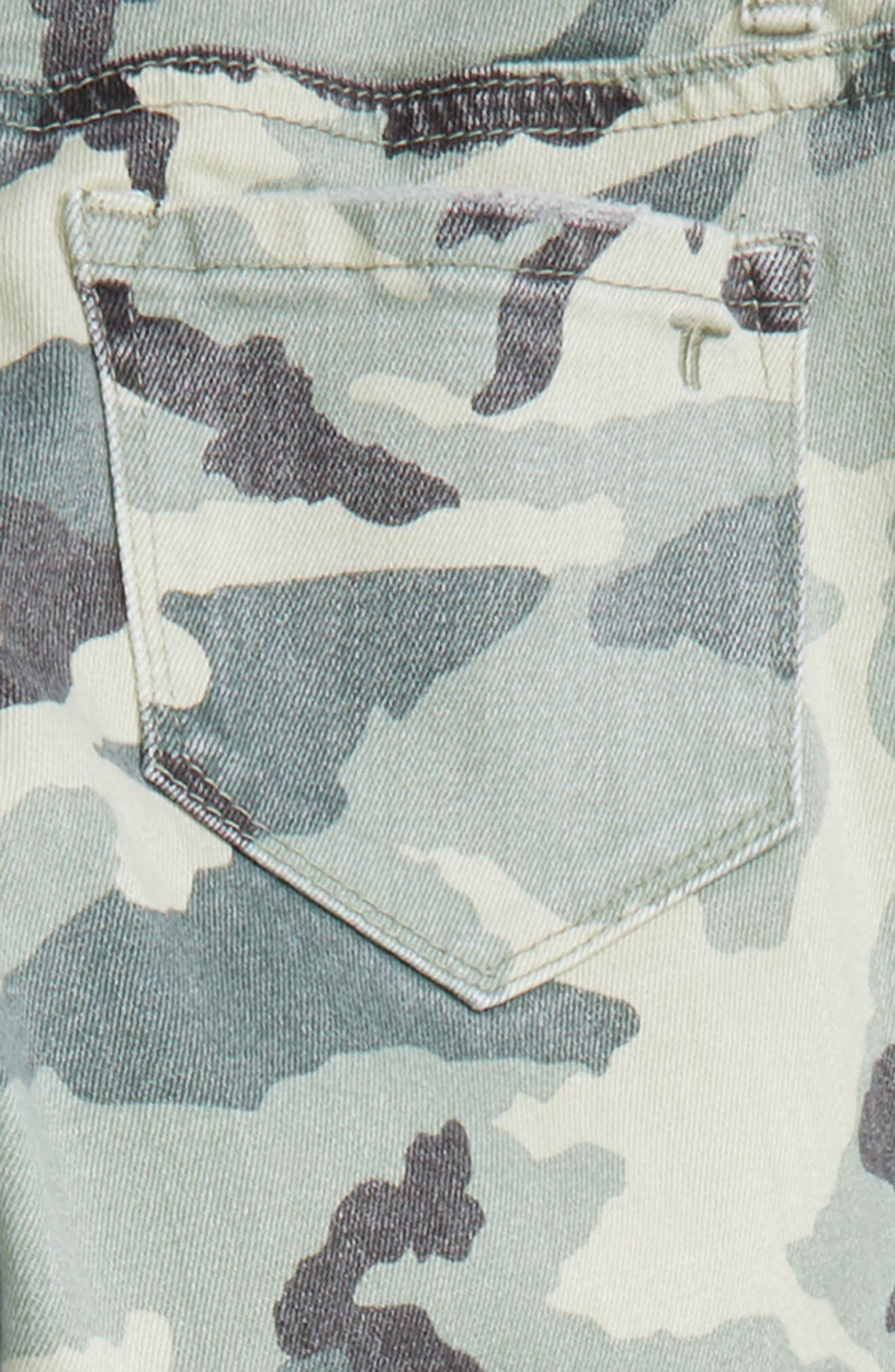 Camo Distressed Crop Jeans,                             Alternate thumbnail 3, color,                             Green