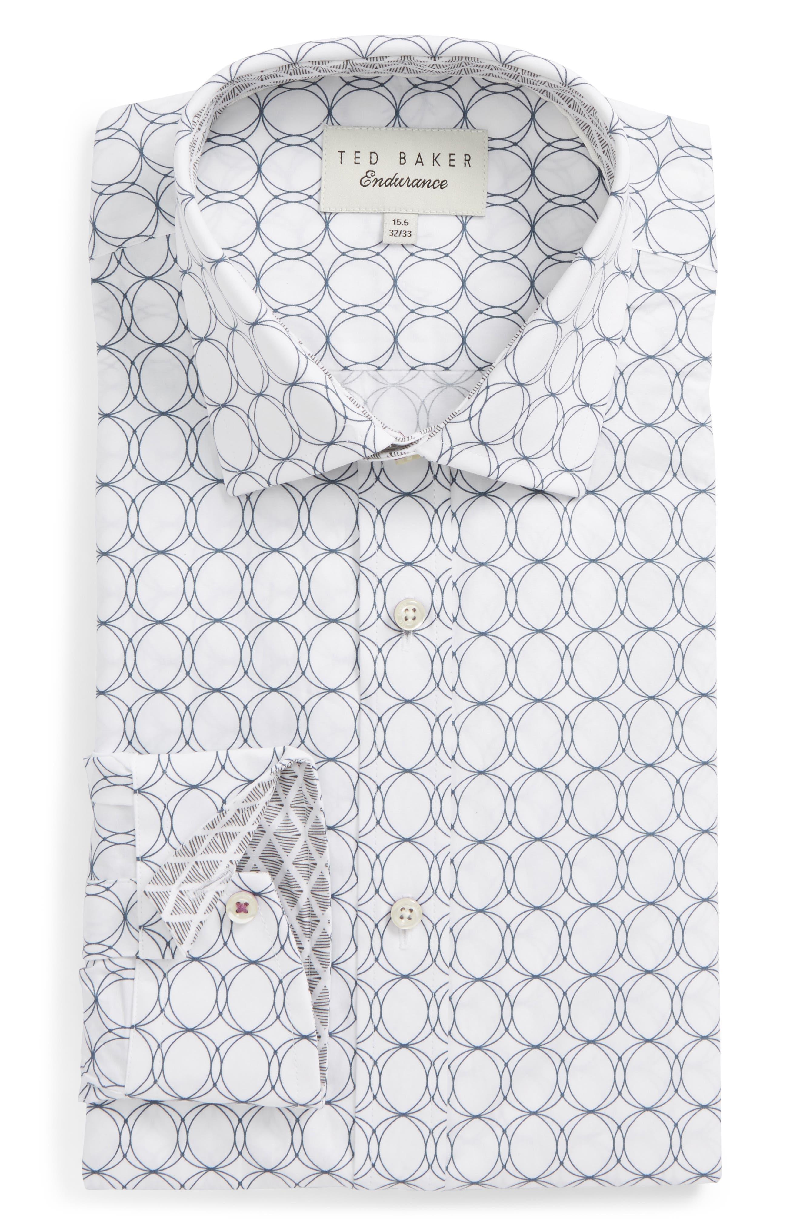Endurance Trim Fit Dress Shirt,                         Main,                         color, Grey