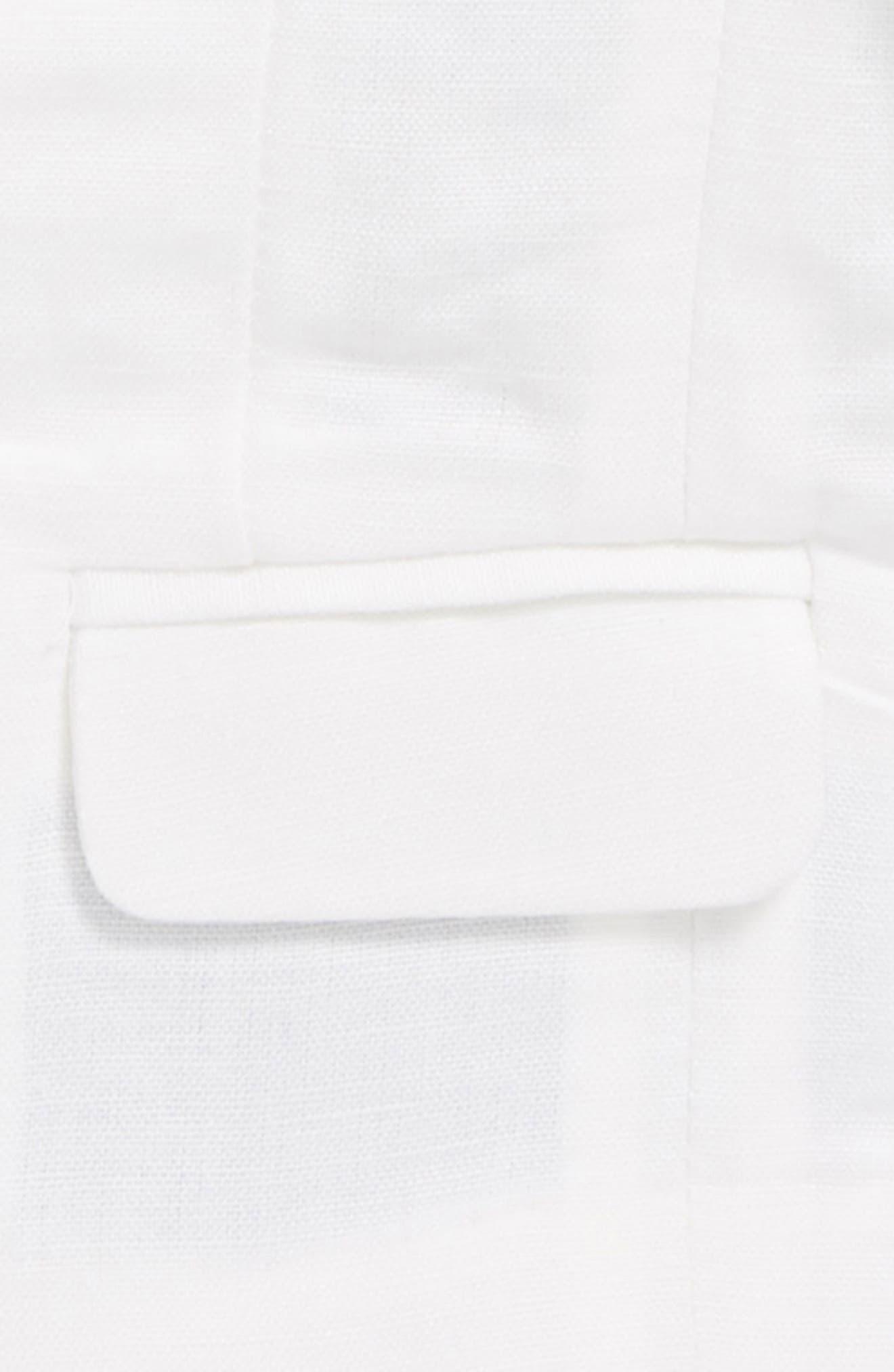 St. Tropez Linen Blend Blazer,                             Alternate thumbnail 2, color,                             White
