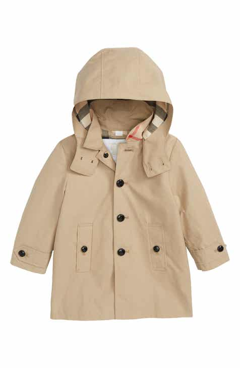 Burberry Mini Bradley Hooded Trench Coat (Baby Boys) 2a0a6db097b2