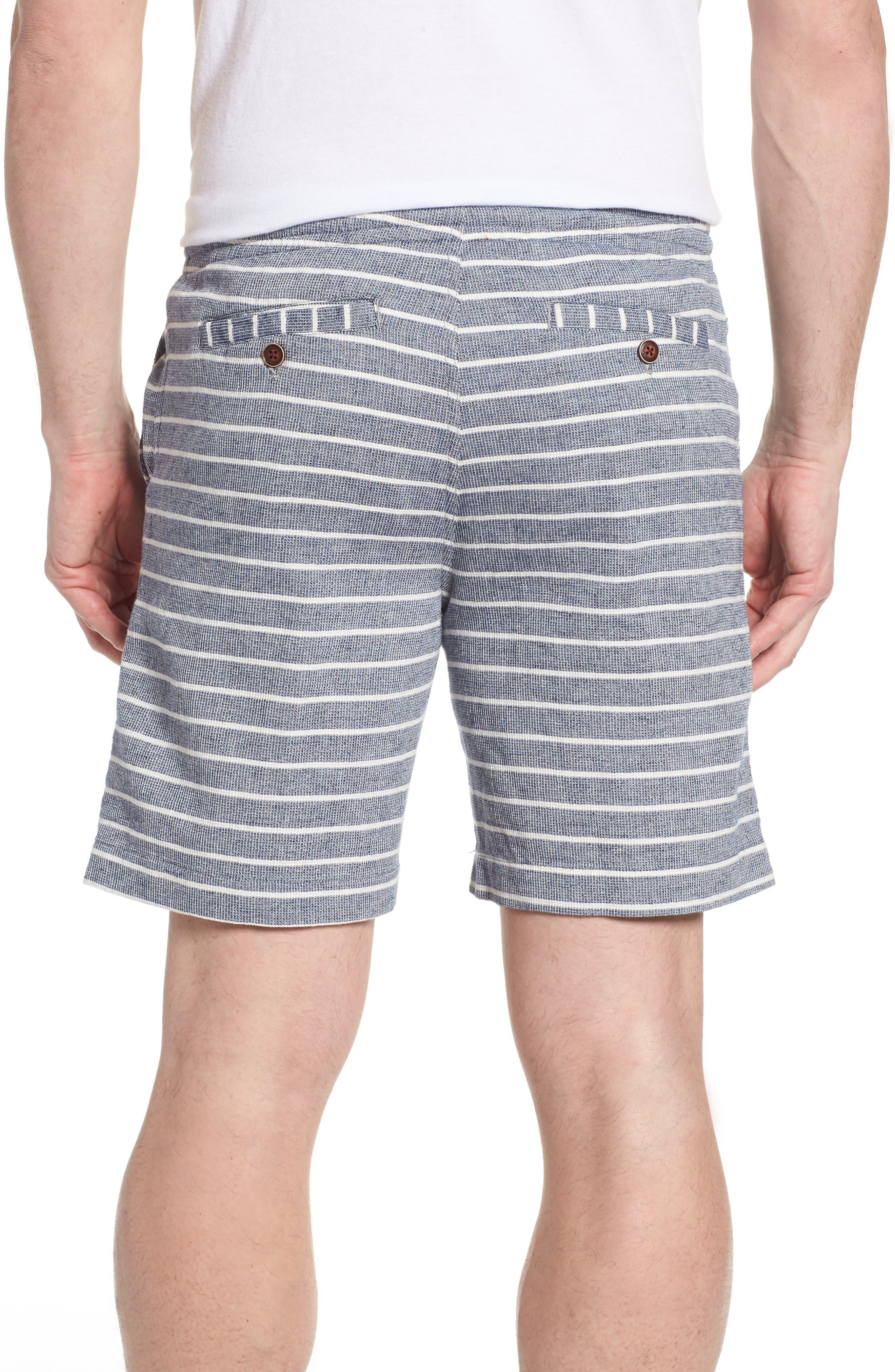 Steve Stripe Pull-On Shorts,                             Alternate thumbnail 2, color,                             Blue / White