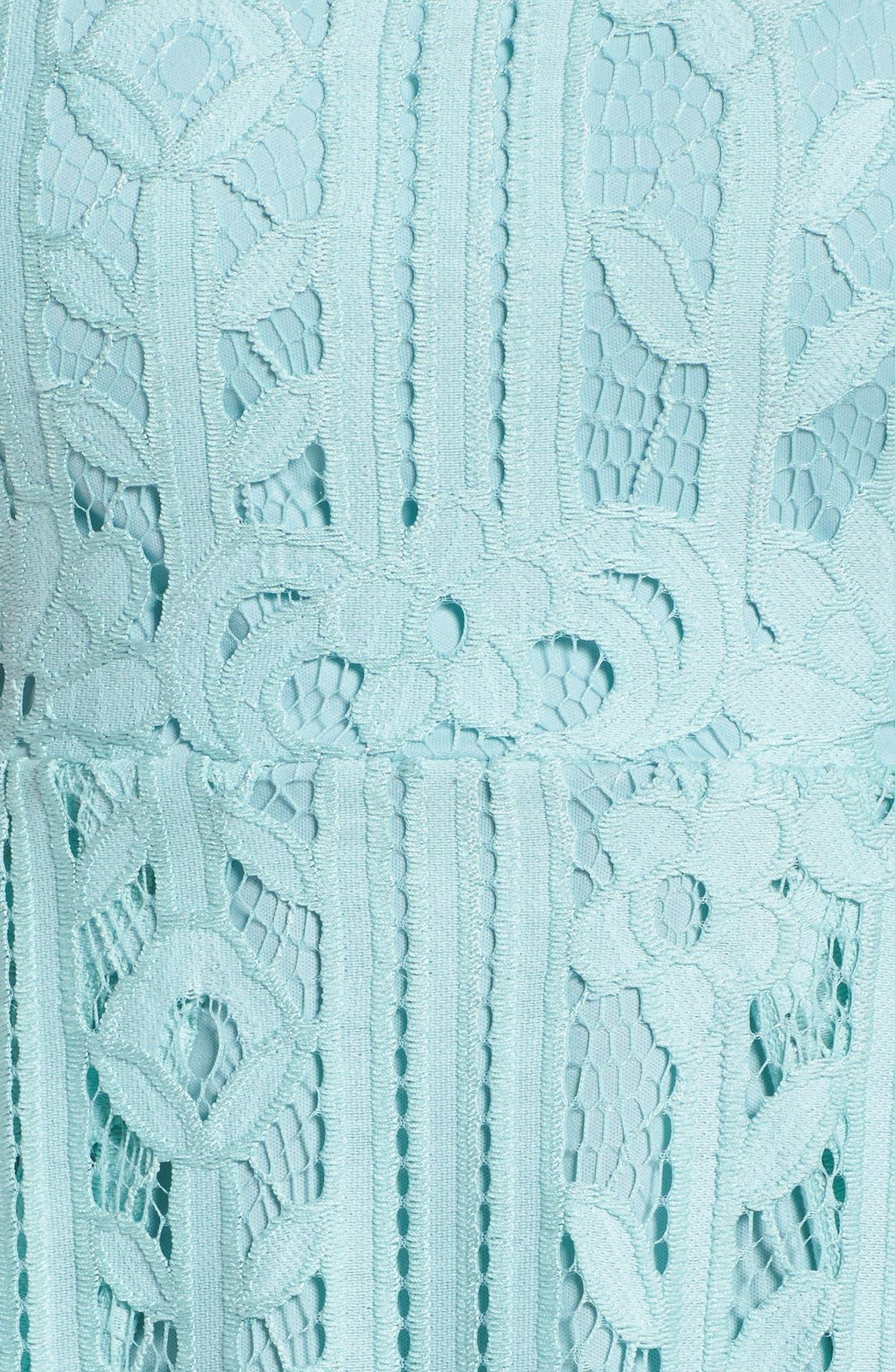 Sleeveless Lace Dress,                             Alternate thumbnail 6, color,                             Mint