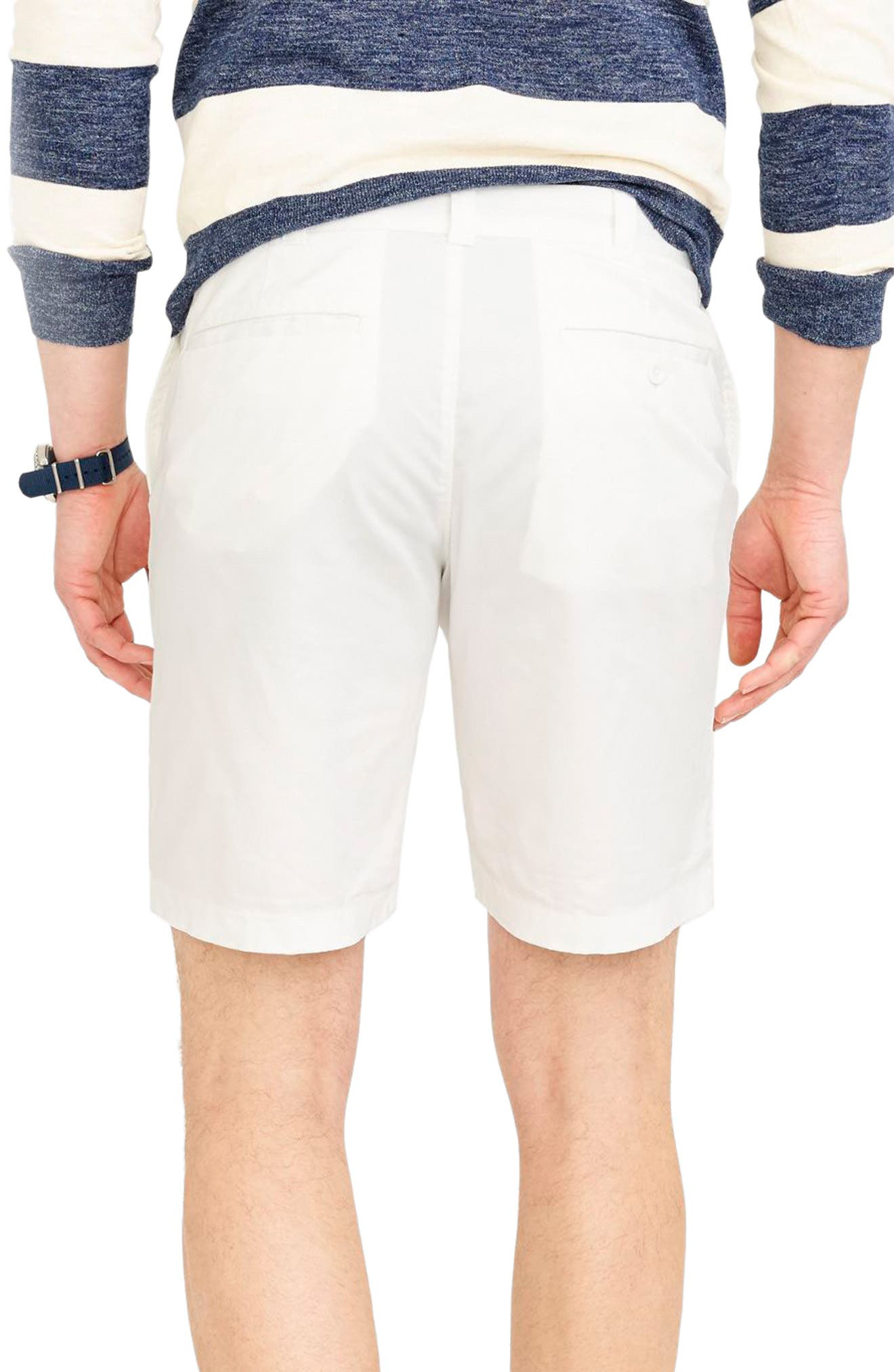 Stretch Chino Shorts,                             Alternate thumbnail 3, color,                             White