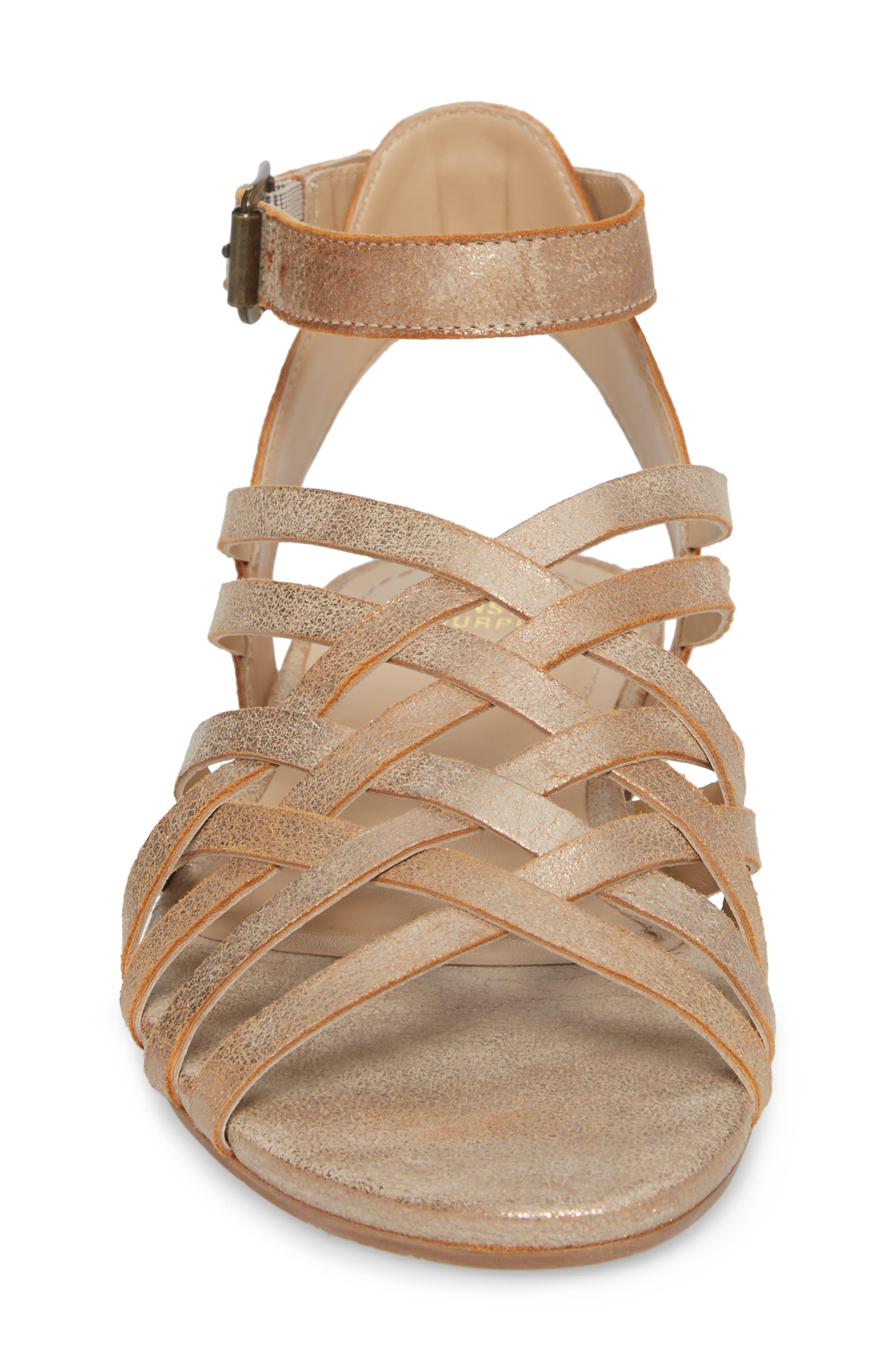 Hallie Sandal,                             Alternate thumbnail 4, color,                             Copper Leather