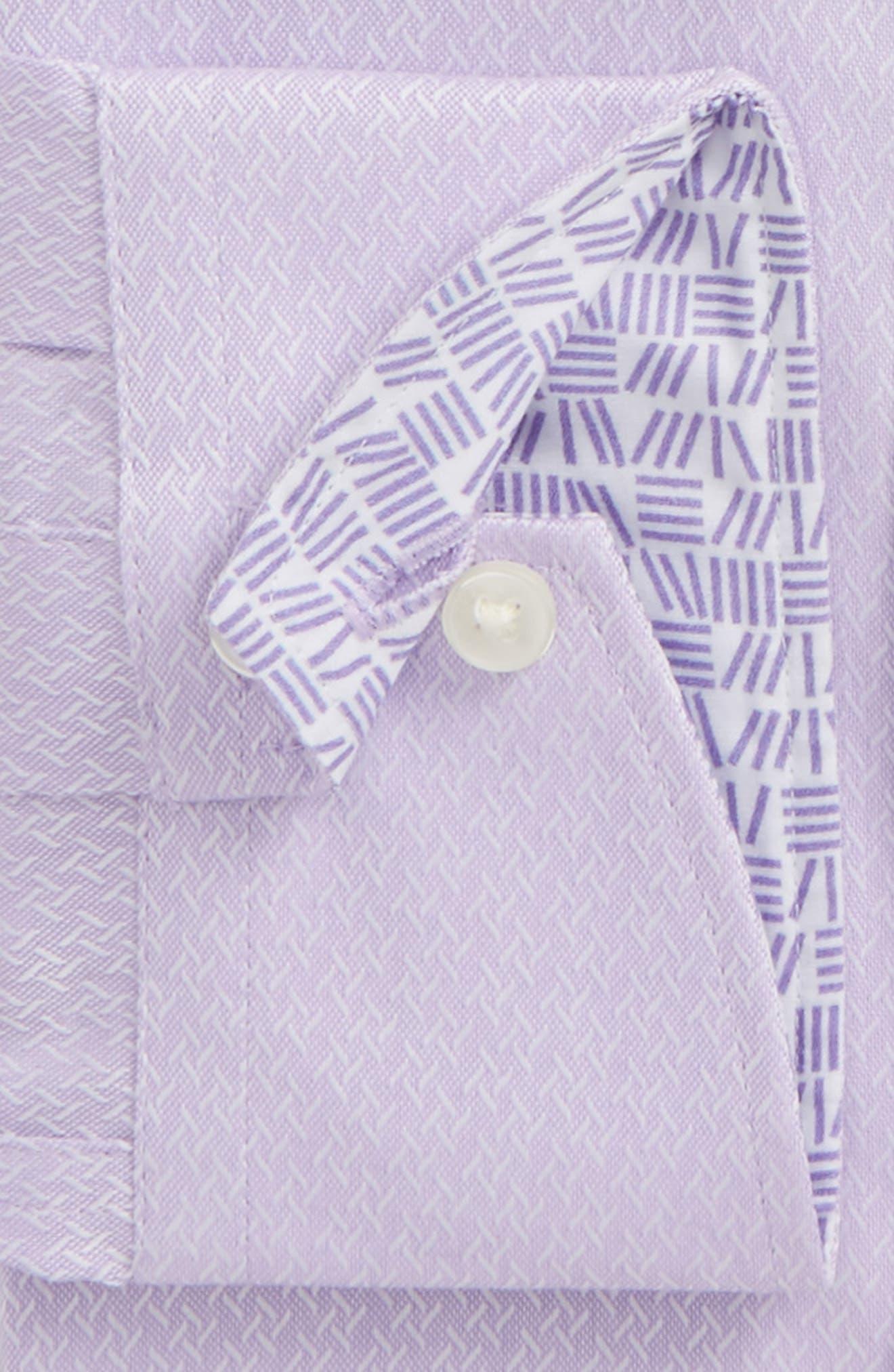 Endurance Driss Trim Fit Geometric Oxford Dress Shirt,                             Alternate thumbnail 2, color,                             Lilac