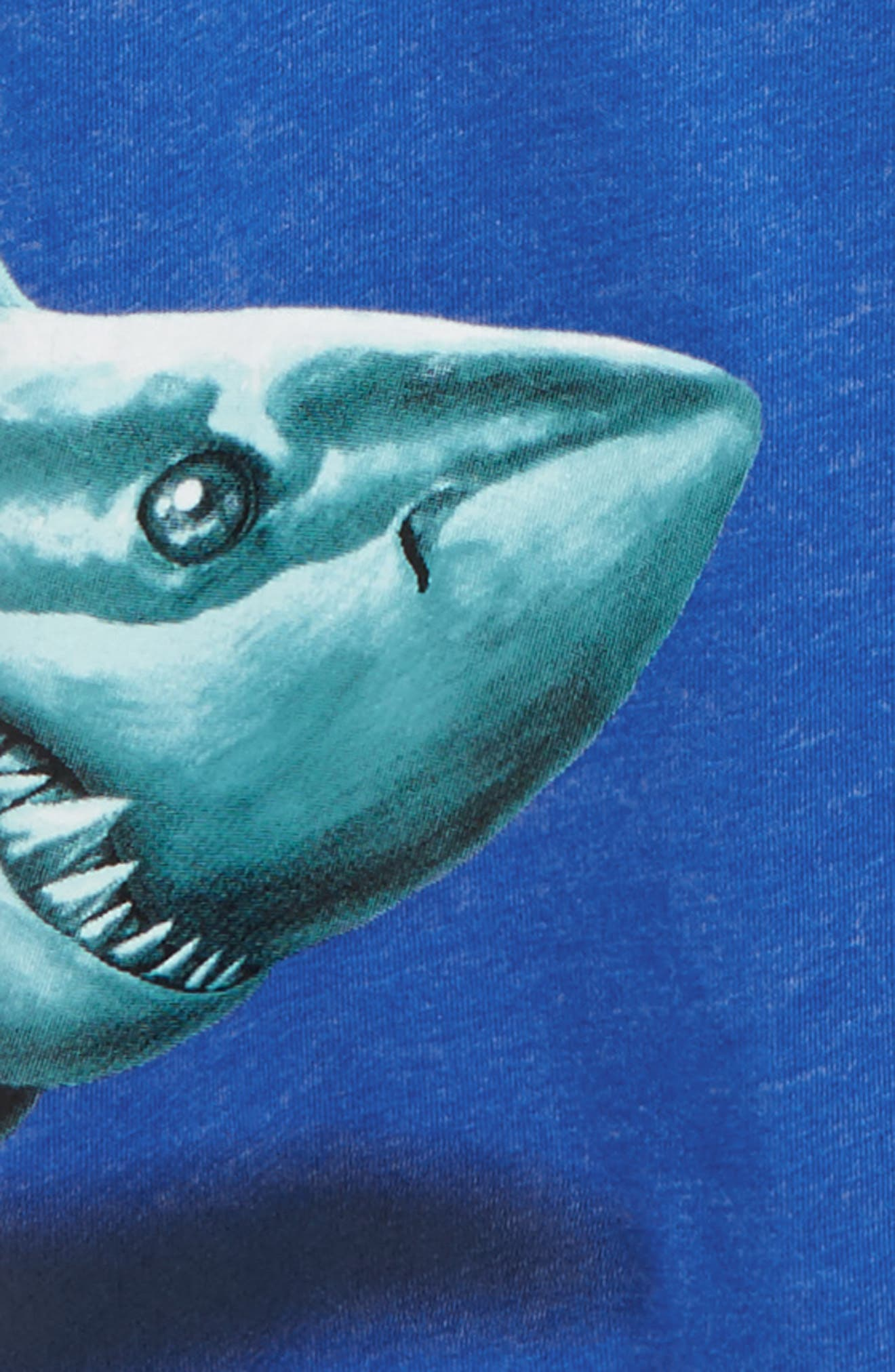 Sharky T-Shirt,                             Alternate thumbnail 2, color,                             Fountain Blue Heather