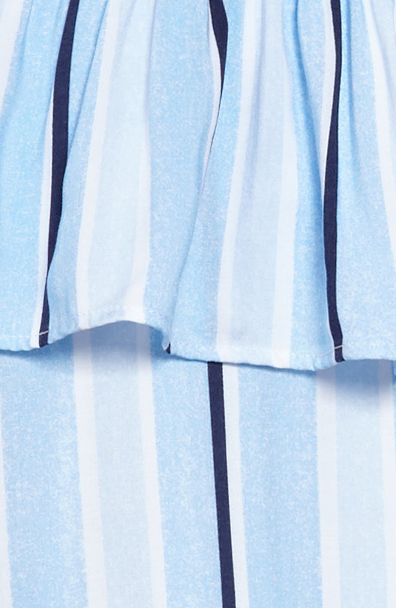 Cold Shoulder Knit Shirtdress,                             Alternate thumbnail 3, color,                             Light Blue/ White