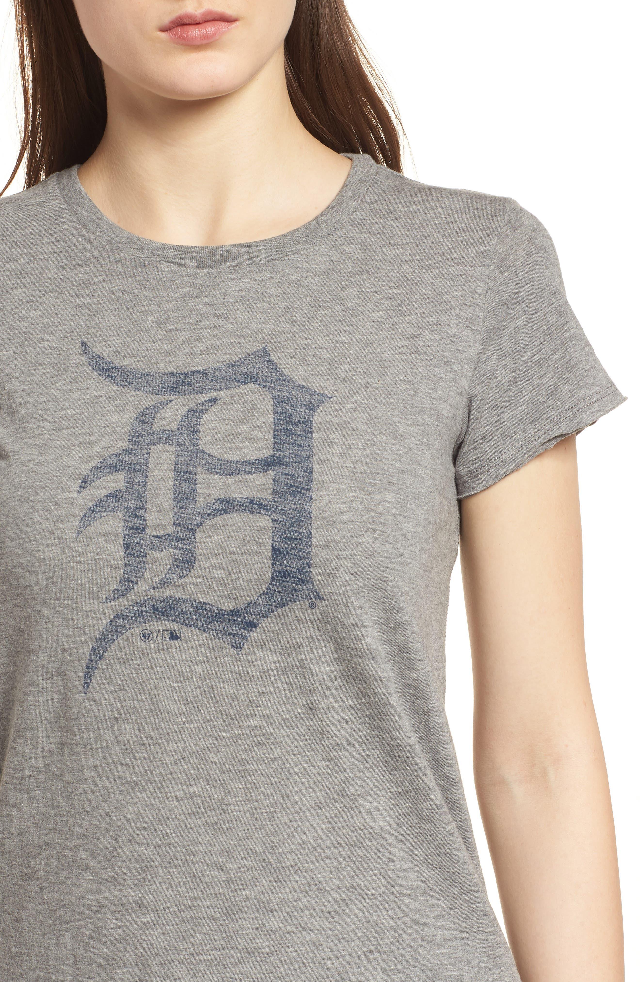 Detroit Tigers Fader Letter Tee,                             Alternate thumbnail 4, color,                             Slate Grey