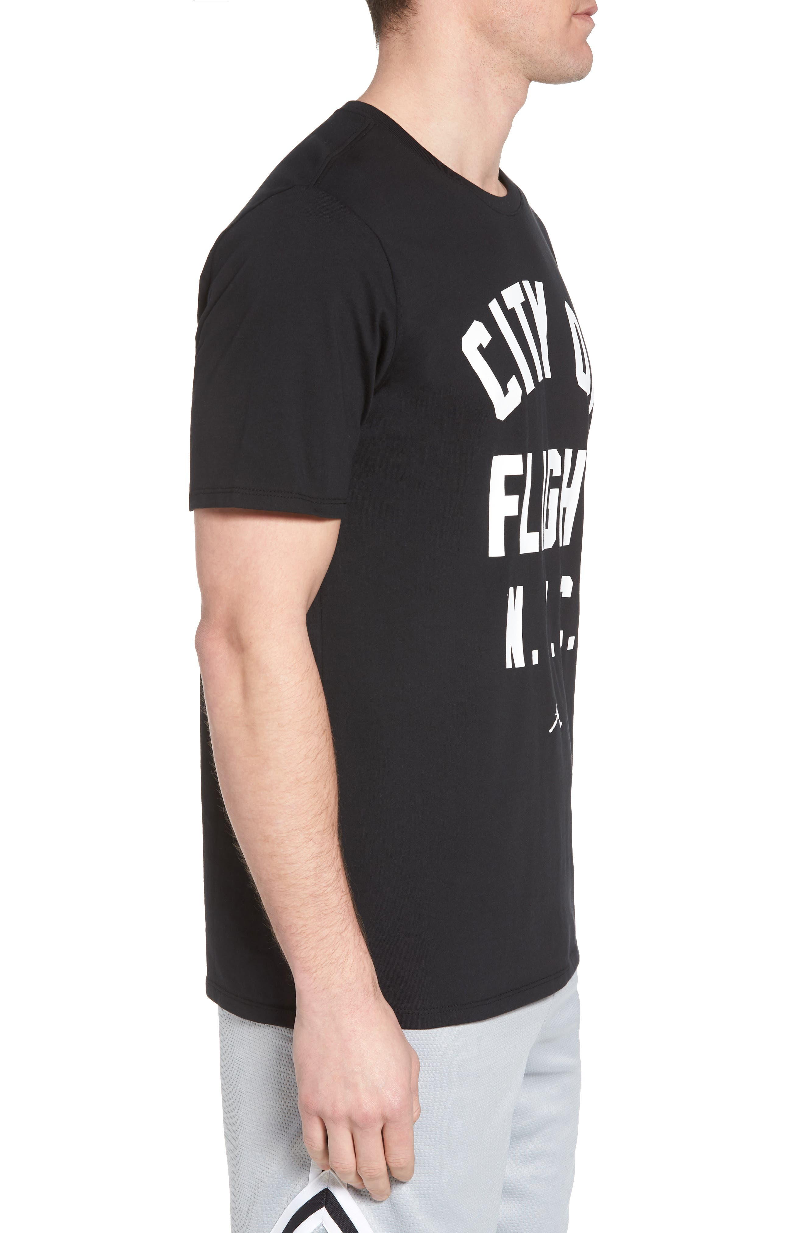 Sportswear City of Flight T-Shirt,                             Alternate thumbnail 3, color,                             Black/ White