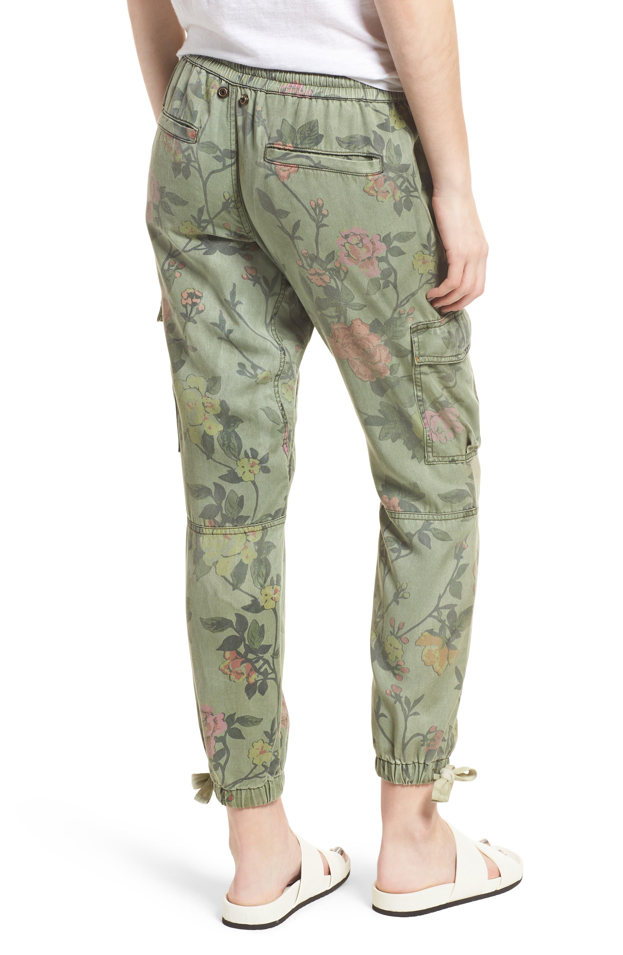 Floral Cargo Pants,                             Alternate thumbnail 2, color,                             Wallflower Print
